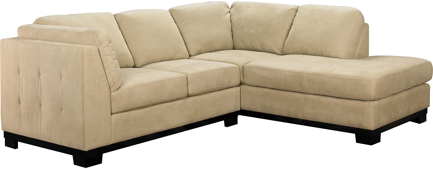Oakdale 2-Piece Microsuede Sectional W/right-Facing Chaise throughout Sectional Sofas At The Brick (Image 12 of 15)