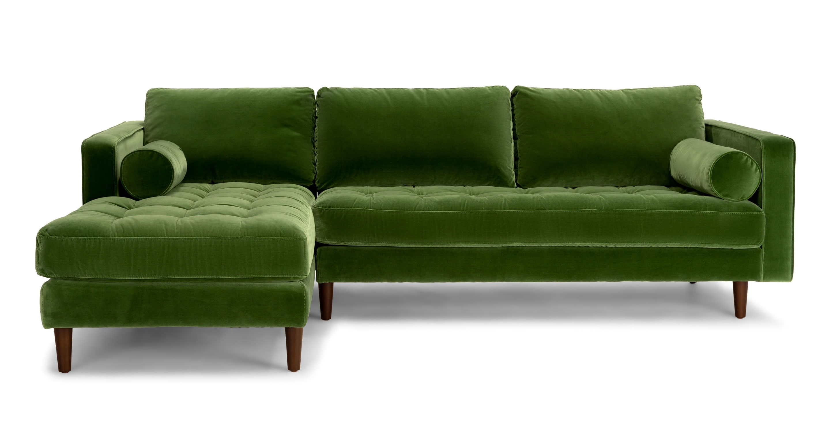 Olive Green Chenille Fabrical Sofa Seafoam Emerald Leather Sage Inside Green Sectional Sofas (View 2 of 10)