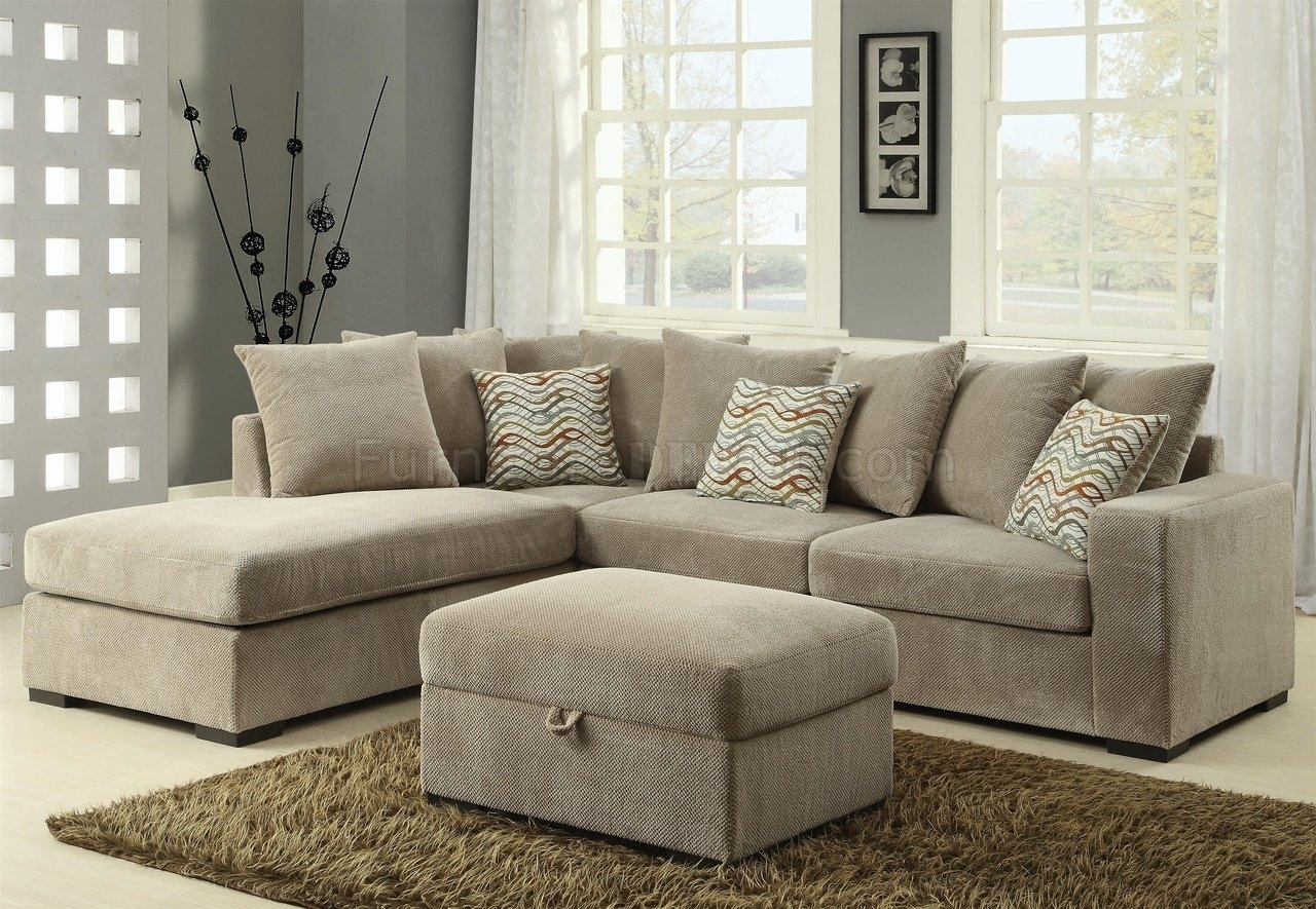 Olson Sectional Sofa 500044 In Taupe Fabriccoaster throughout Michigan Sectional Sofas (Image 4 of 10)