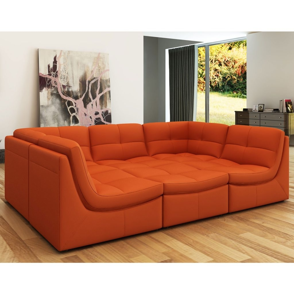 Orange Sectional Sofa Burnt Ideal As For Sofas On Sale Macys Modern with Orange County Ca Sectional Sofas (Image 10 of 10)