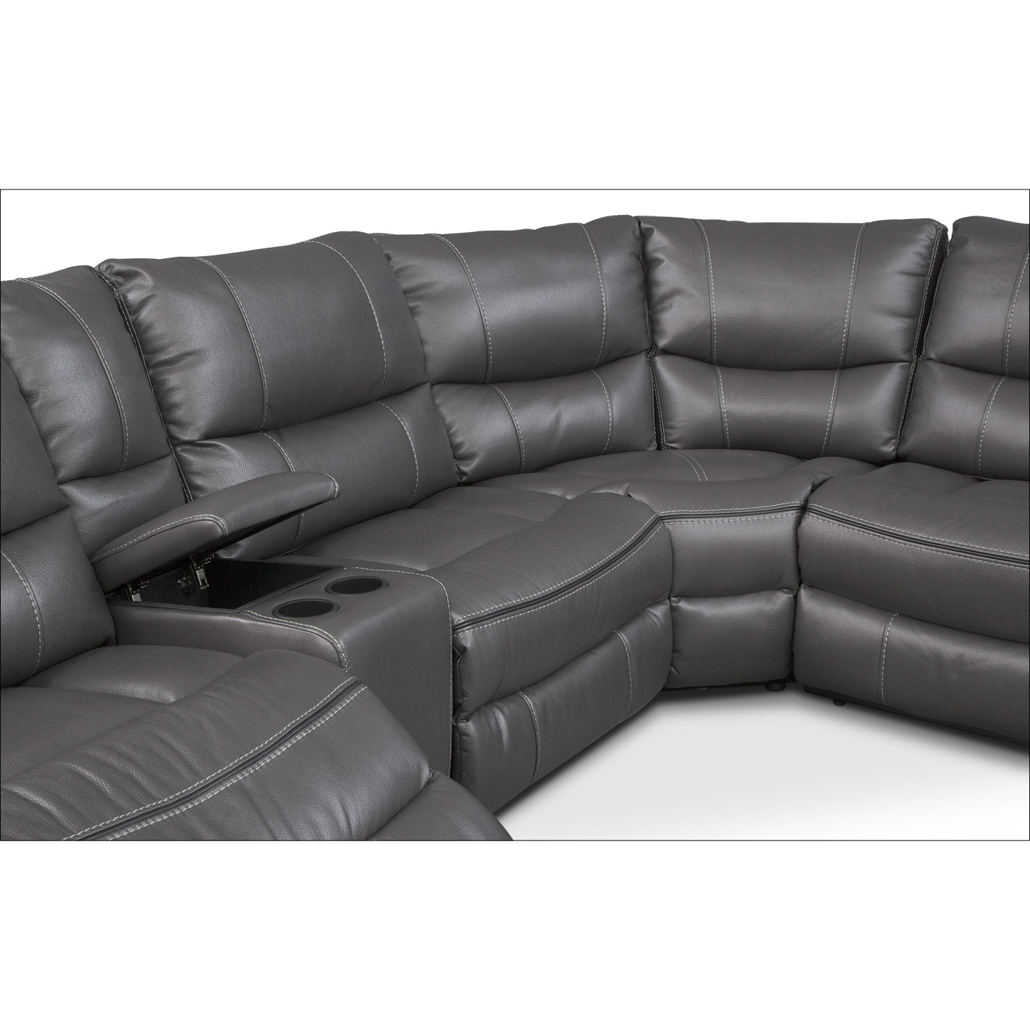Orlando 6-Piece Power Reclining Sectional With 1 Stationary Chair in Orlando Sectional Sofas (Image 5 of 10)