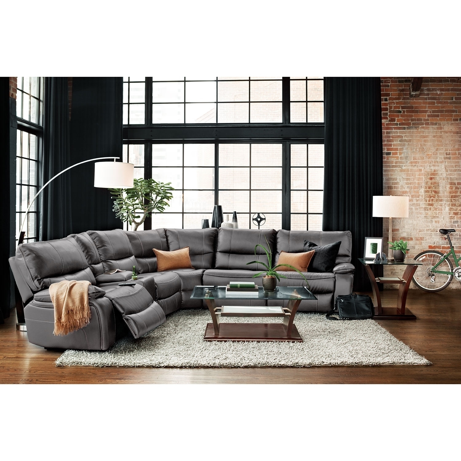 Orlando 6 Piece Power Reclining Sectional With 1 Stationary Chair Throughout Orlando Sectional Sofas (View 4 of 10)