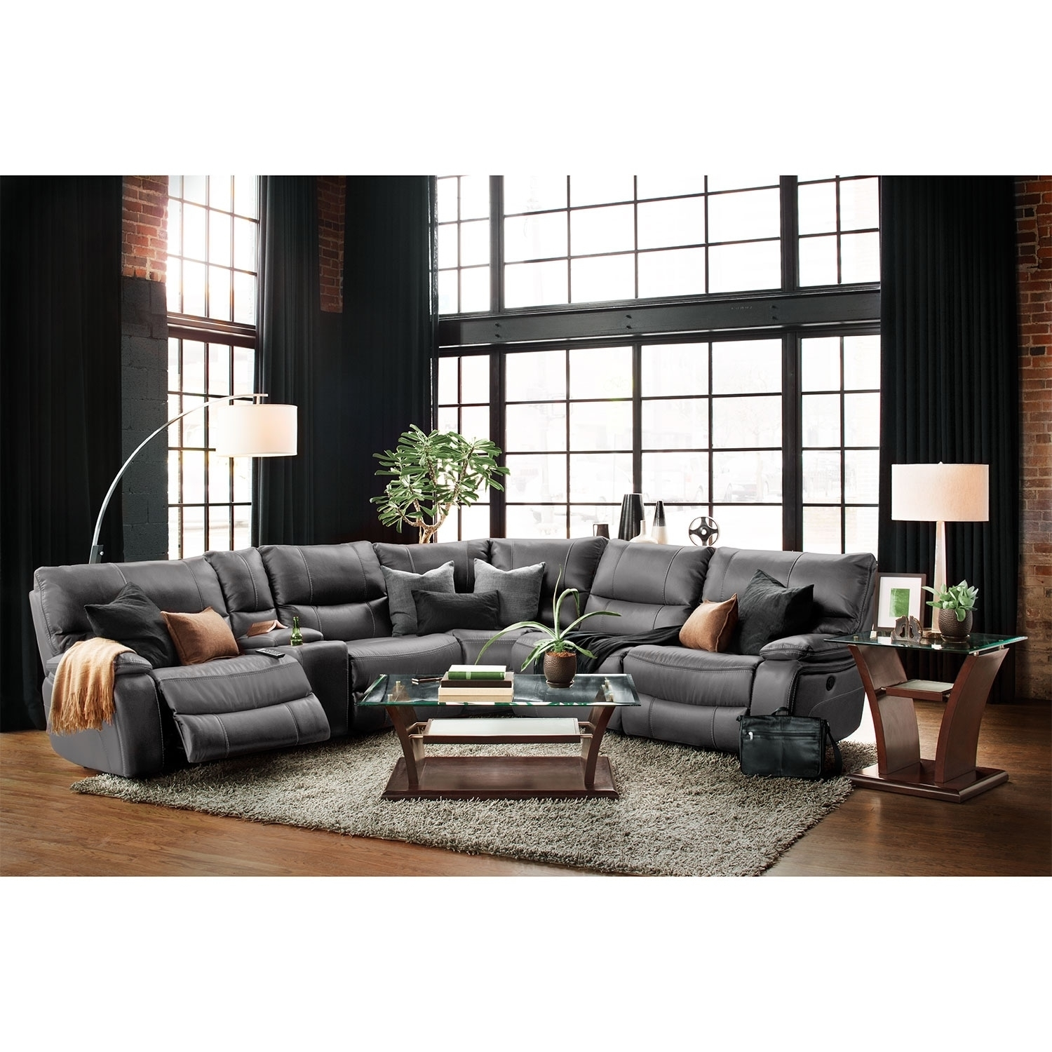Orlando 6-Piece Power Reclining Sectional With 1 Stationary Chair with regard to Orlando Sectional Sofas (Image 8 of 10)