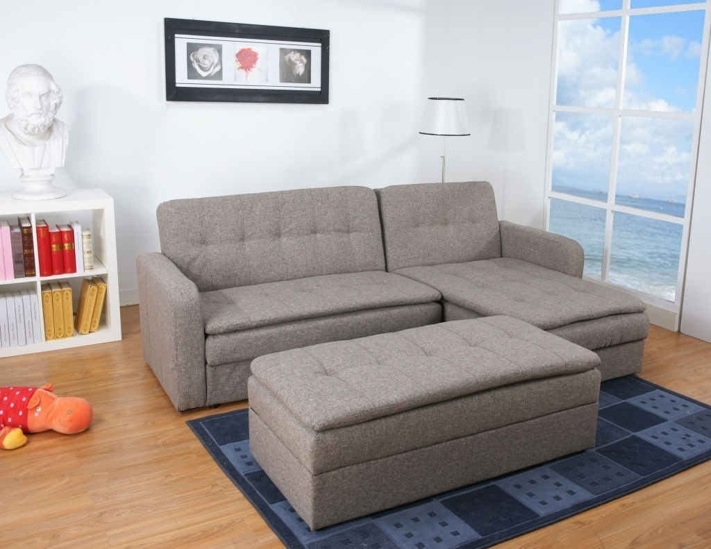 Ottoman Sofa Bed Denver Rind Finish Double Cushion Storage Sectional intended for Denver Sectional Sofas (Image 6 of 10)