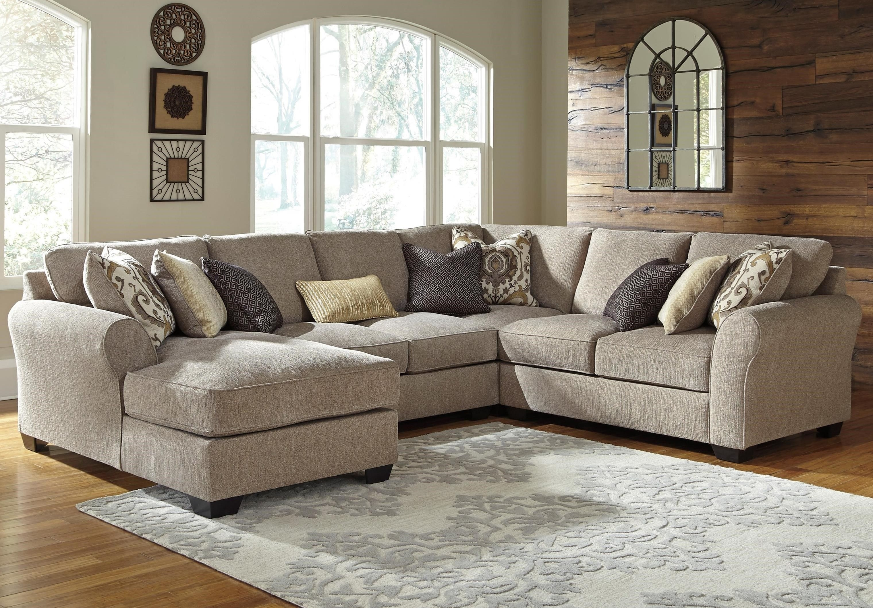 Pantomine 4 Piece Sectional With Left Chaisebenchcraft | Item With Harrisburg Pa Sectional Sofas (View 5 of 10)