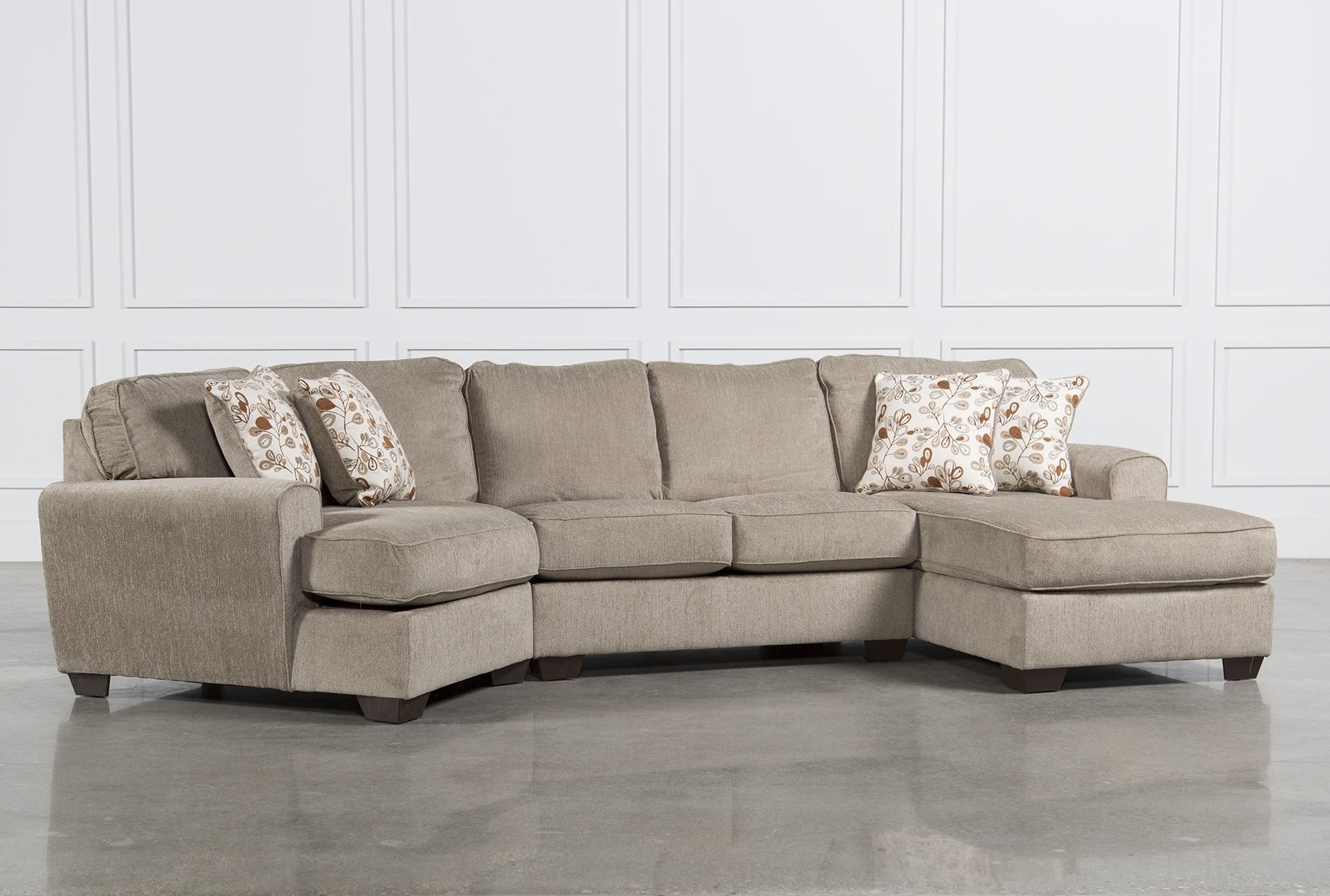 Patola Park 3 Piece Cuddler Sectional W/raf Corner Chaise | Mon regarding Cuddler Sectional Sofas (Image 10 of 10)