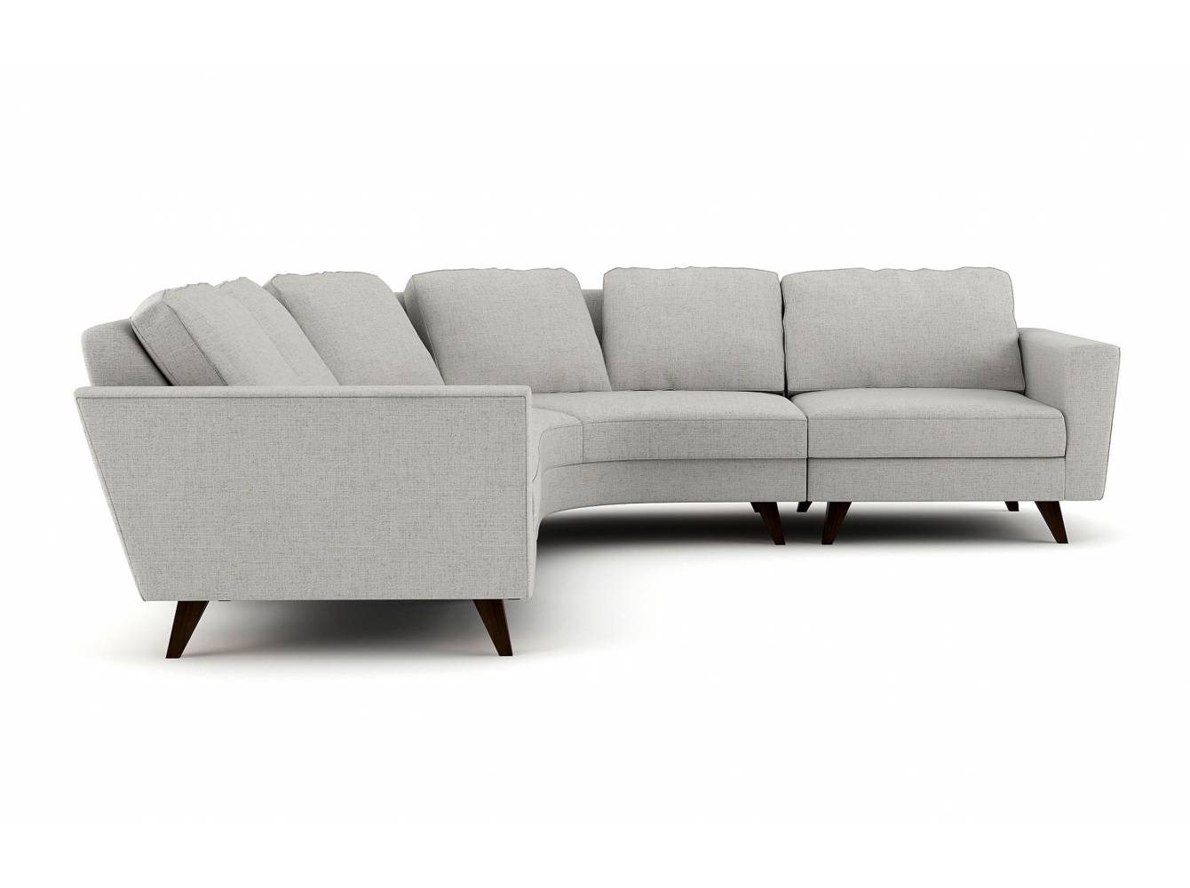 Pel Rounded Corner Sectional - Stem with Rounded Corner Sectional Sofas (Image 3 of 10)