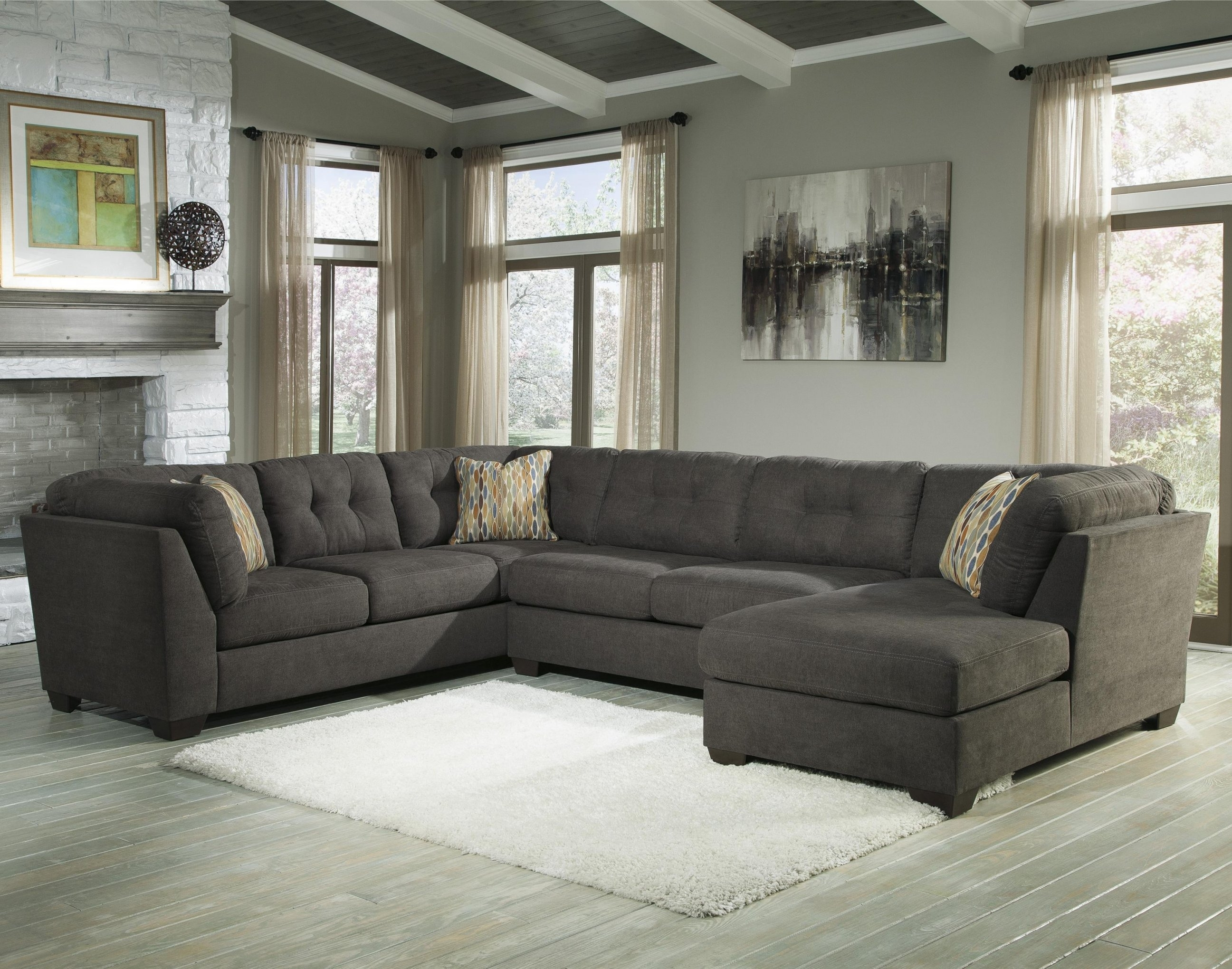 Piece Modular Sectional W/ Armless Sleeper & Right Chaise In 3 Piece Intended For 3 Piece Sectional Sleeper Sofas (View 8 of 10)