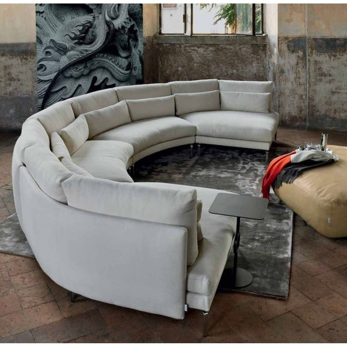 Pindaniel Harper On Decor | Pinterest | Round Couch, Comfortable Intended For Semicircular Sofas (View 6 of 10)