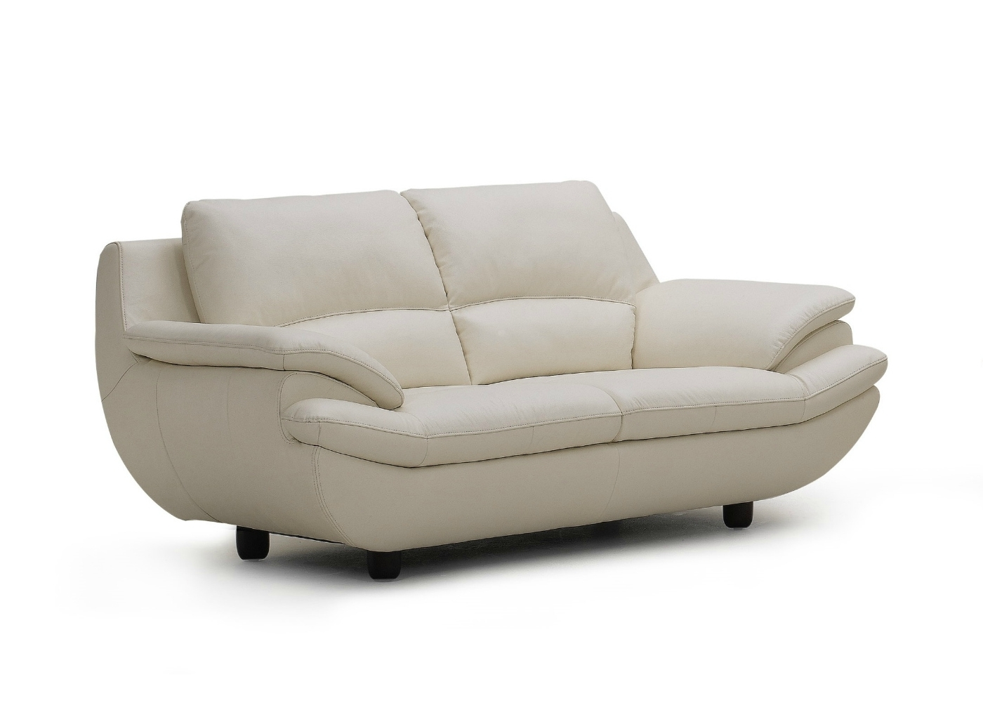 Plush Leather Sofa In Off White - Not Just Brown with regard to Off White Leather Sofas (Image 8 of 10)