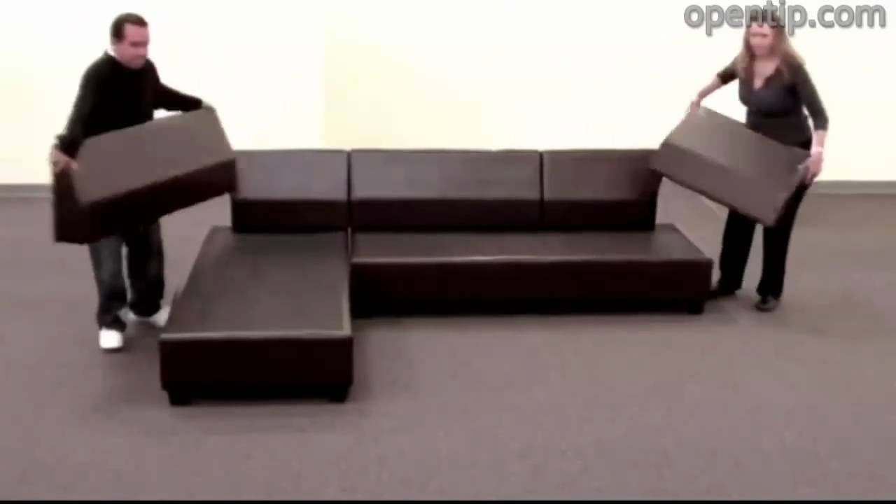 Poundex 3Pcs Hungtinton Sectional Sofa Set (Ottoman Reversible) From Intended For Sectional Sofas That Come In Pieces (View 7 of 10)
