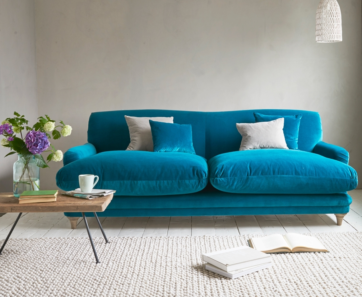Pudding Sofa | Traditional Style Sofa | Loaf regarding Turquoise Sofas (Image 4 of 10)