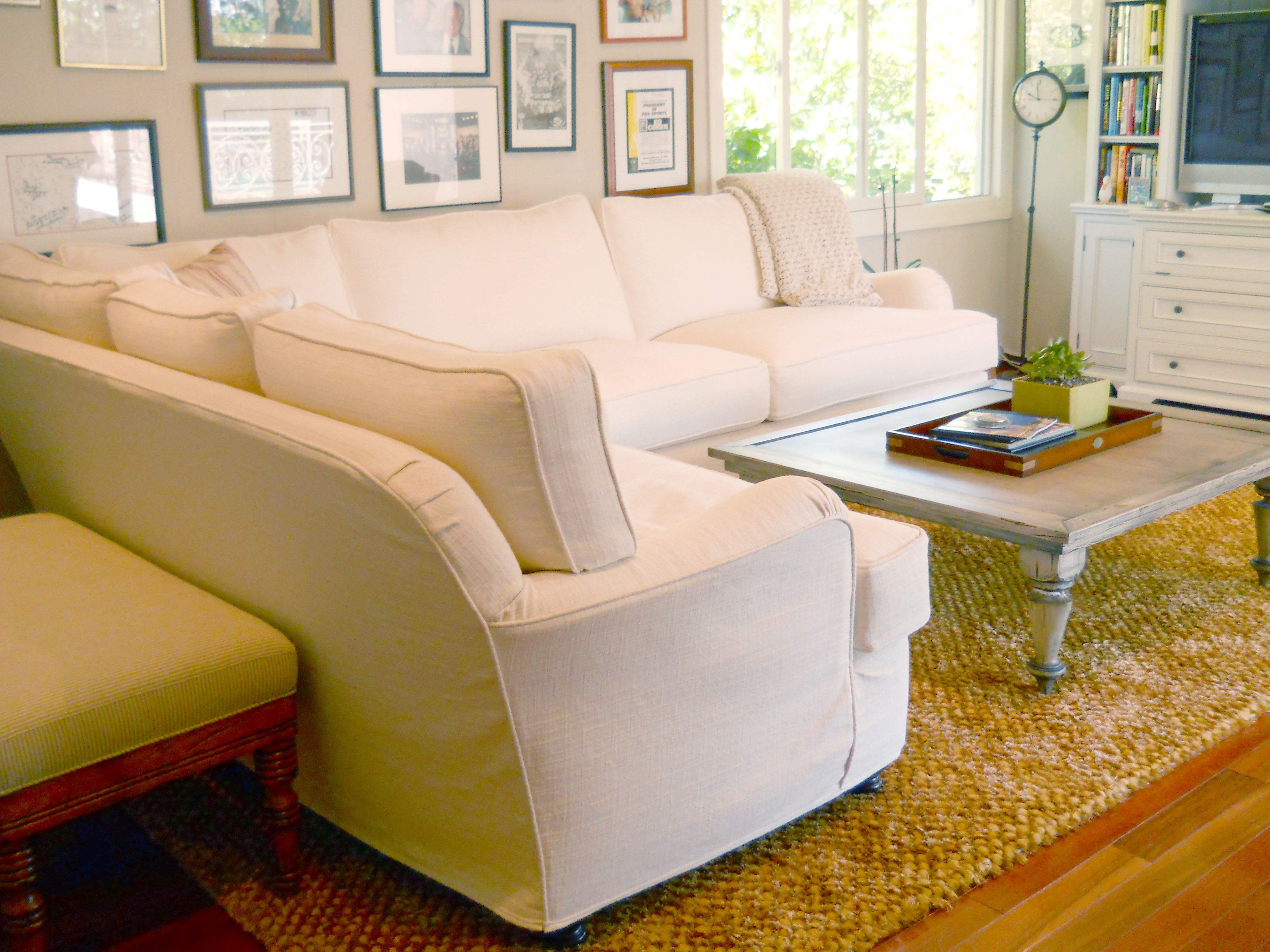 Quatrine Ivory Slipcovered Modern Milan Sectional And Distressed pertaining to Quatrine Sectional Sofas (Image 6 of 10)