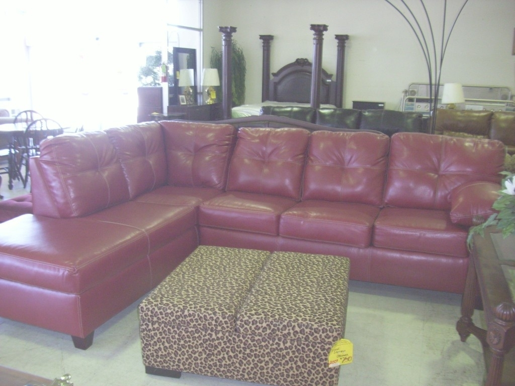 Quoet Faux Leather Sectional Couch - Wild Wood Home Ideas regarding Red Faux Leather Sectionals (Image 7 of 15)