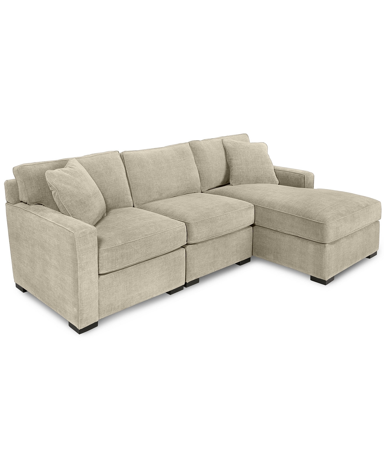 Radley 3 Piece Fabric Chaise Sectional Sofa, Created For Macy's Intended For Kelowna Sectional Sofas (View 9 of 10)