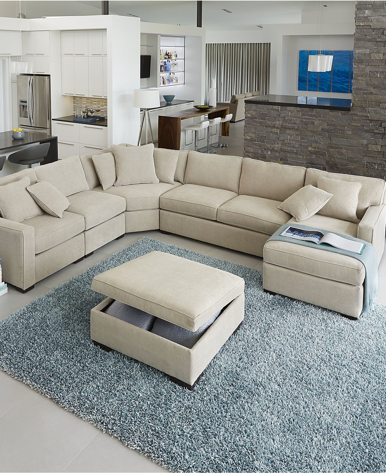 Radley Fabric Sectional Sofa Collection, Created For Macy's | Radley with Macys Sectional Sofas (Image 6 of 10)