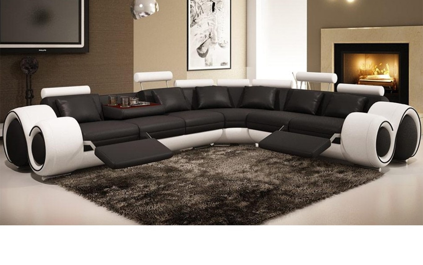 Recliner : Ideal Sectional Sofa With Recliner Leather Hypnotizing throughout Sectional Sofas At Bangalore (Image 10 of 15)