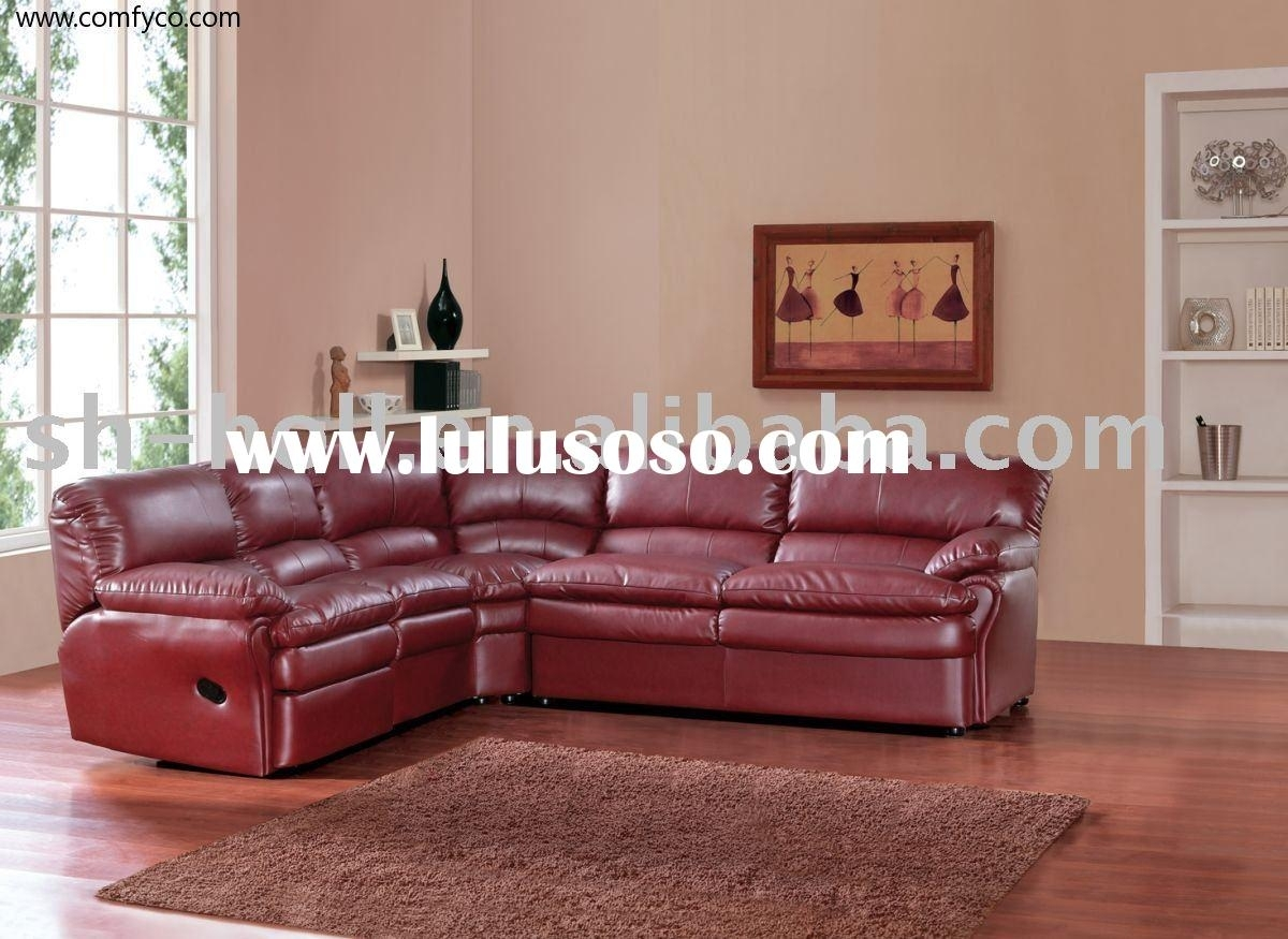 Reclining Sectionals Recliners - Living Rooms House Beautiful within Red Leather Sectional Sofas With Recliners (Image 8 of 15)