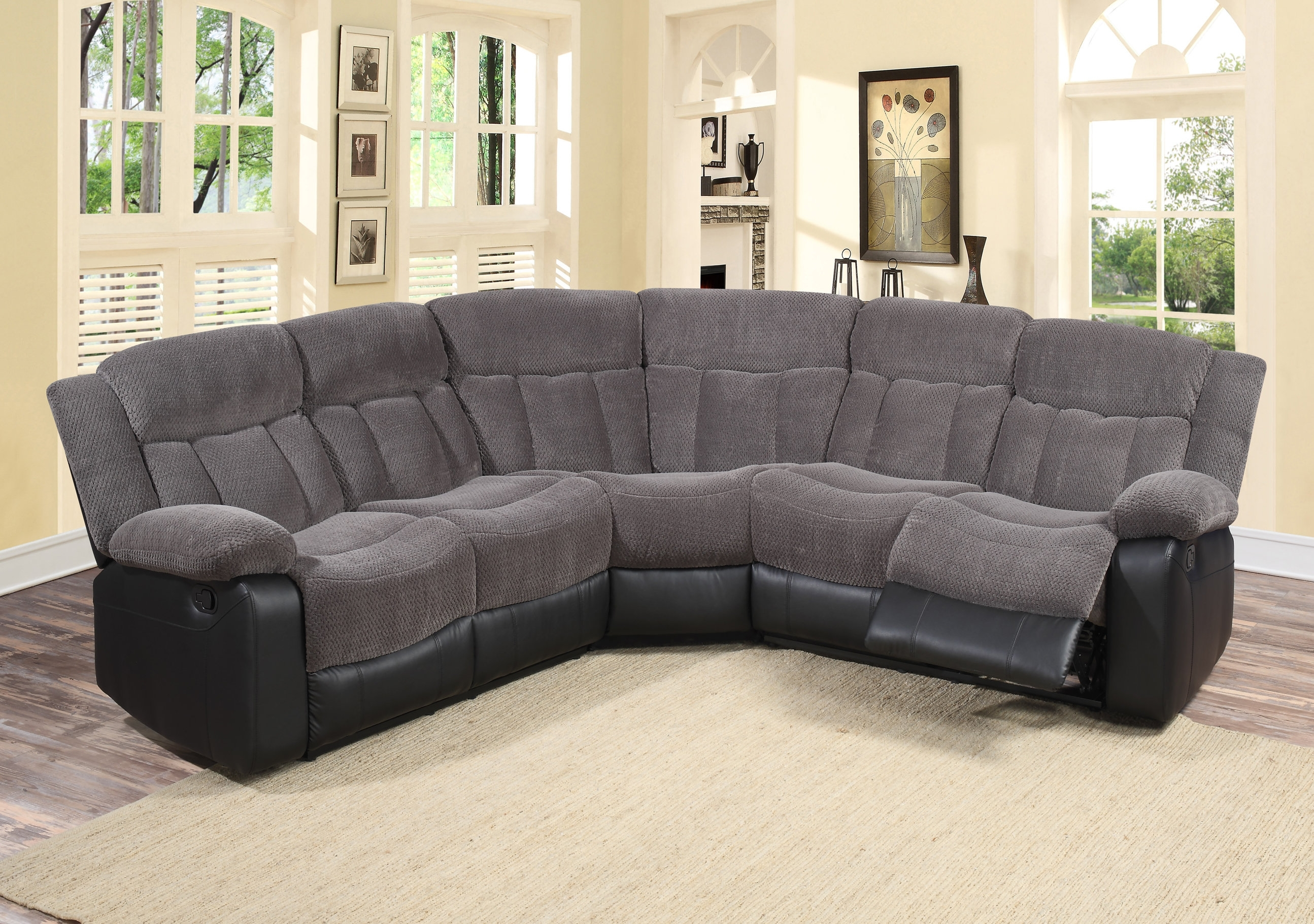 Reclining Sectionals You'll Love | Wayfair with regard to Reclining Sectional Sofas (Image 10 of 10)