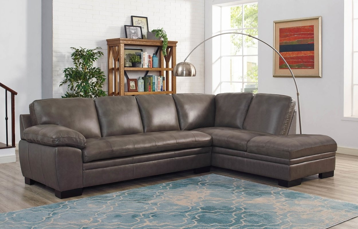 Red Barrel Studio Nick Leather Sectional With Ottoman & Reviews intended for Leather Sectionals With Ottoman (Image 11 of 15)