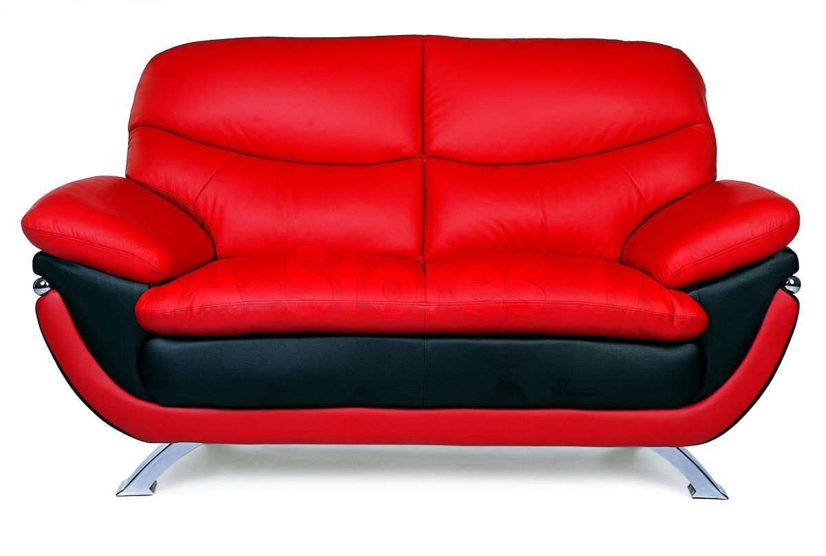 Red Leather Couch And Loveseat | Armchairs, Chaises And Sofas Ideas intended for Red Leather Couches and Loveseats (Image 7 of 15)