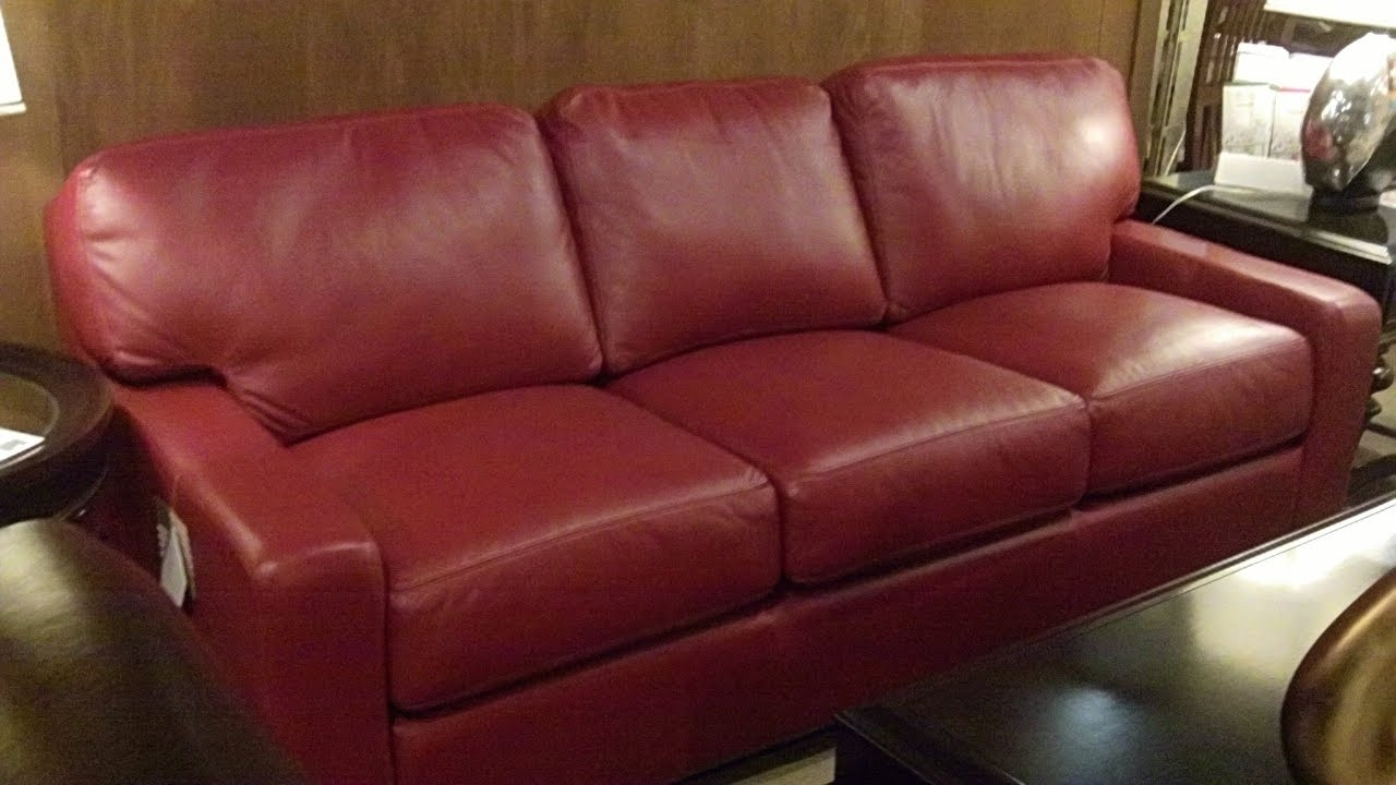 Red Leather Couches - Youtube throughout Red Leather Couches (Image 9 of 15)