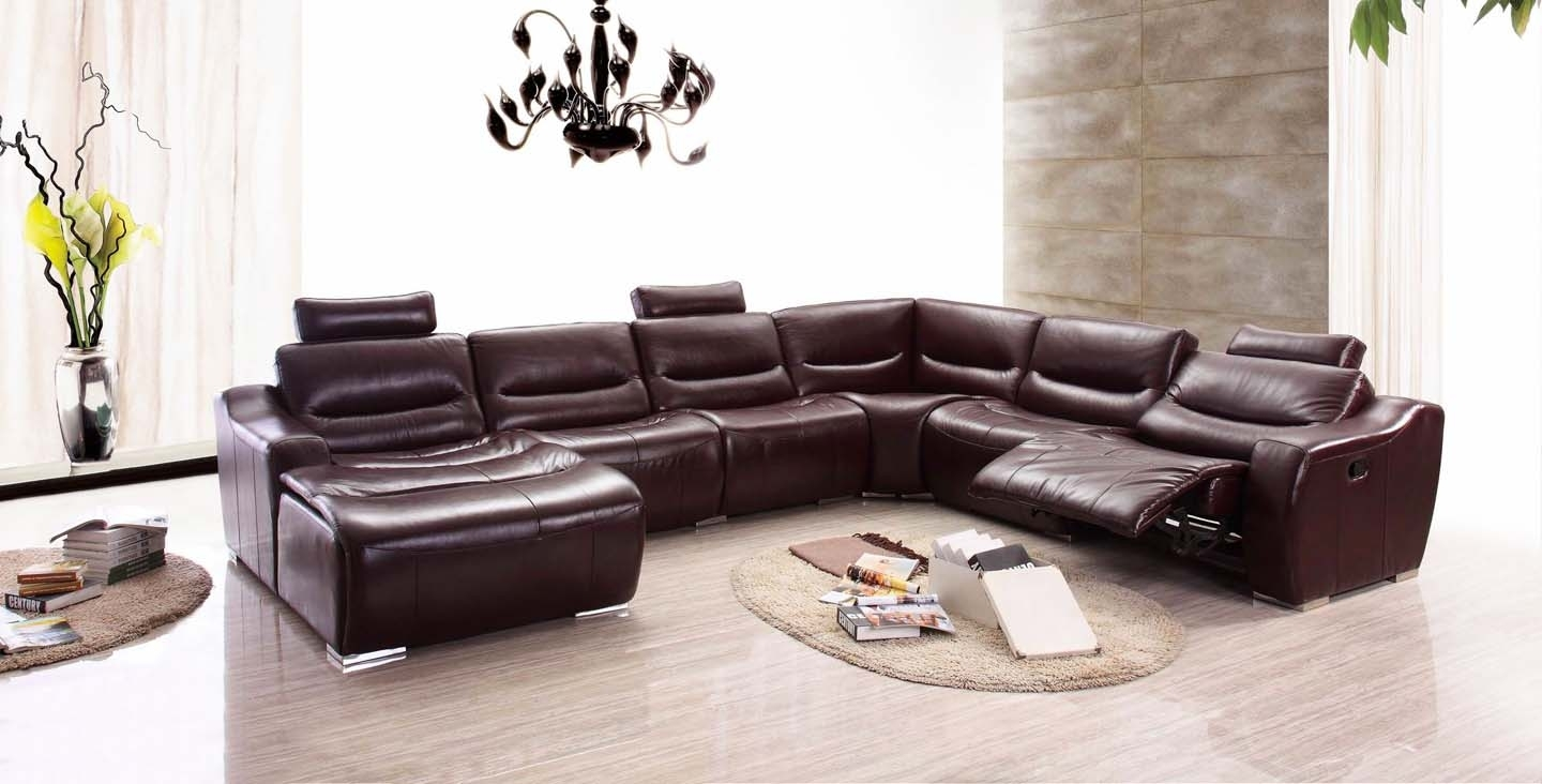 Red Leather Sectional Sofa Design Ideas | Eva Furniture with Red Leather Sectional Sofas With Recliners (Image 10 of 15)