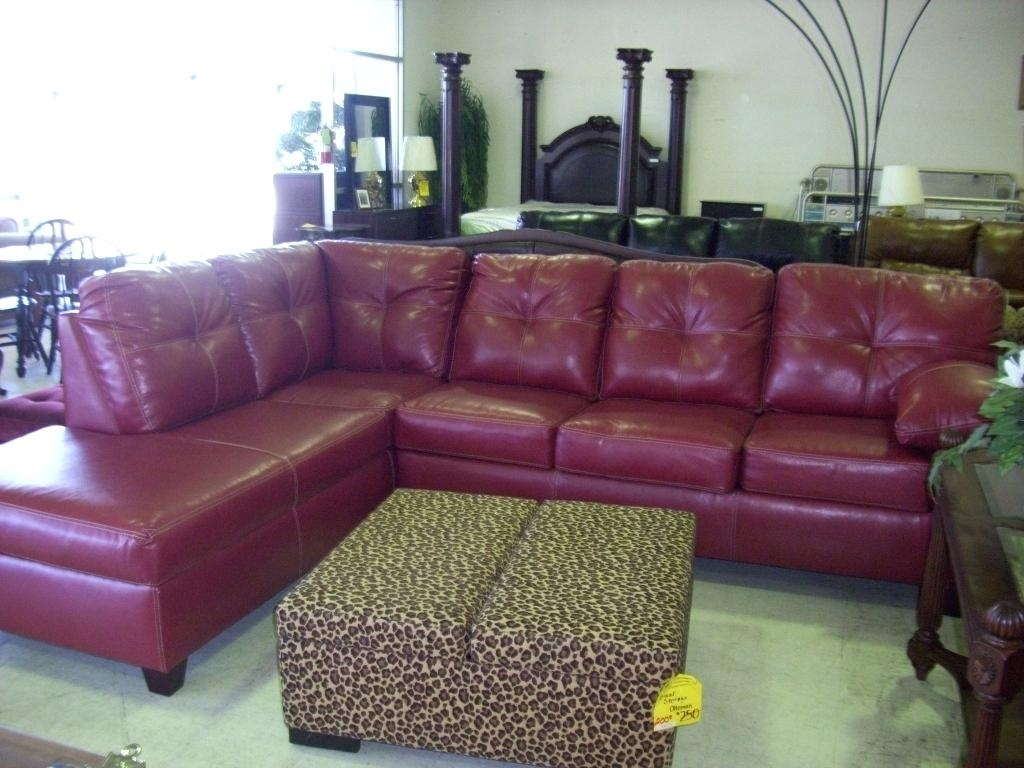 Red Leather Sectional Sofa S B 205 Modern And White Set 4087 With within Red Leather Sectional Sofas With Recliners (Image 11 of 15)