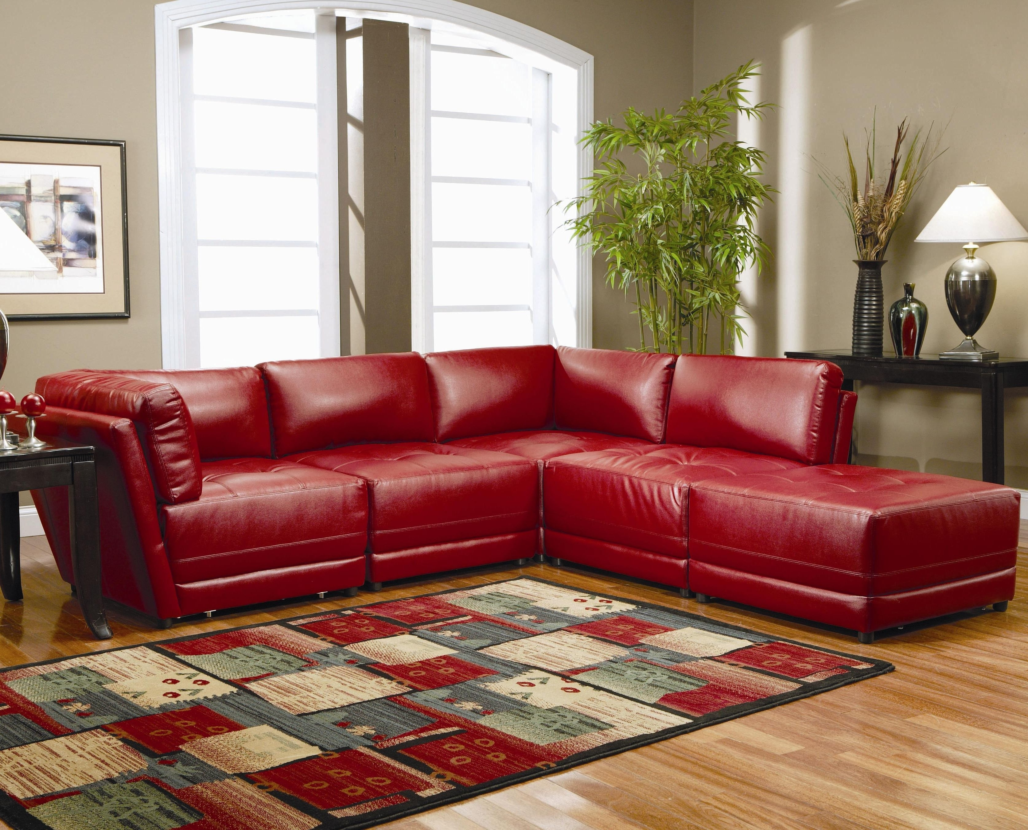 Red Leather Sectional Sofa Sale - Hotelsbacau inside Red Sectional Sofas (Image 7 of 10)