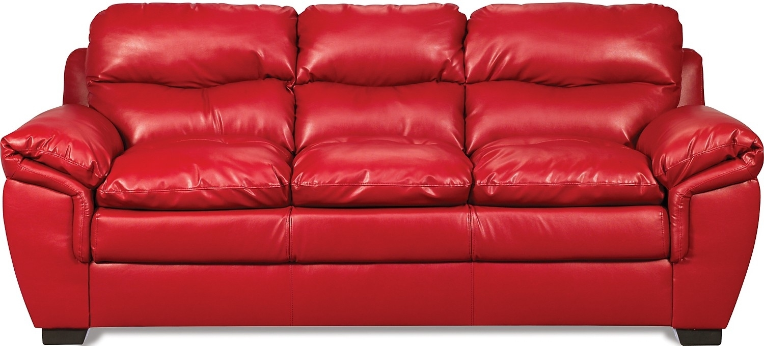 Red Leather Sofa Entrancing Inspiration Red Leather Sofas For Sale in Small Red Leather Sectional Sofas (Image 4 of 15)