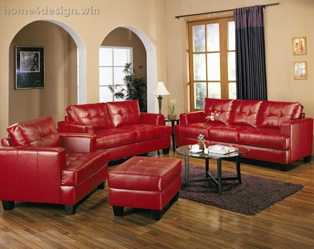 Red Leather Sofa Living Room Ideas • Leather Sofa with Red Leather Couches for Living Room (Image 12 of 15)