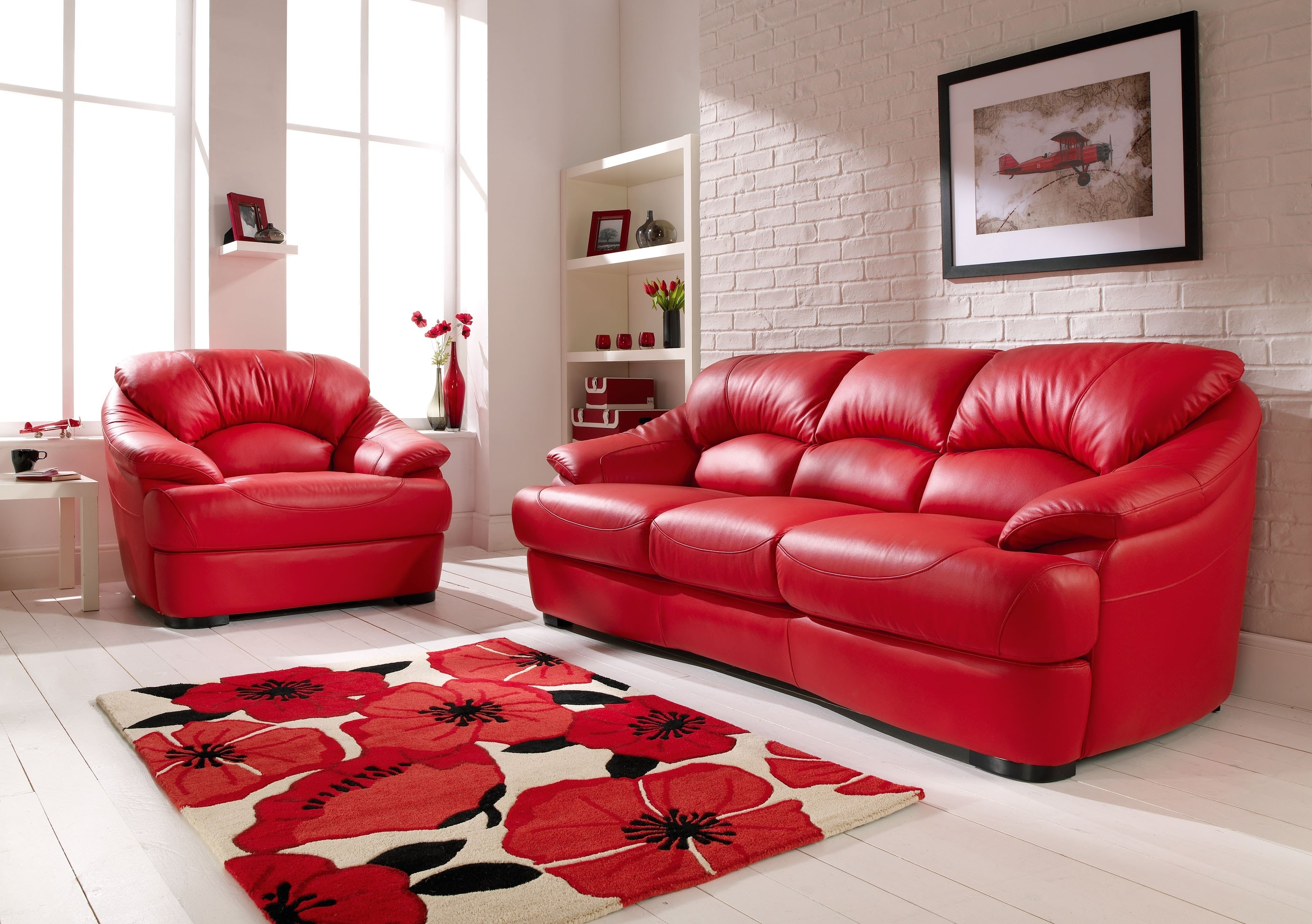 Red Leather Sofa - Youtube intended for Red Leather Couches (Image 11 of 15)