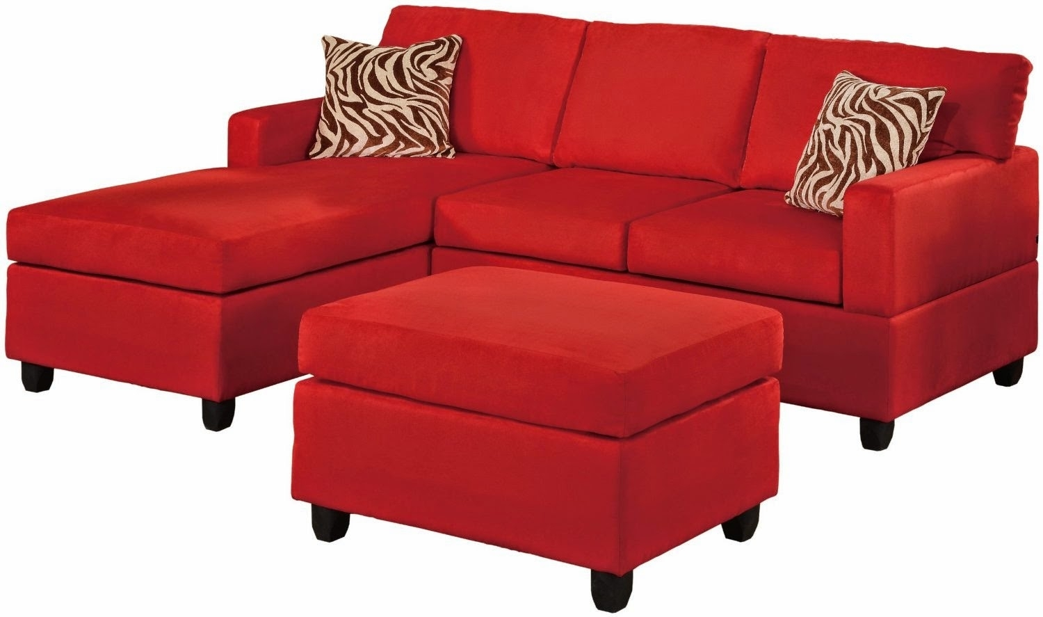 Red Sectional Couch Set Piece Fabric Printed Couches – Dma Homes | #7345 Throughout Red Sectional Sofas With Ottoman (View 9 of 15)