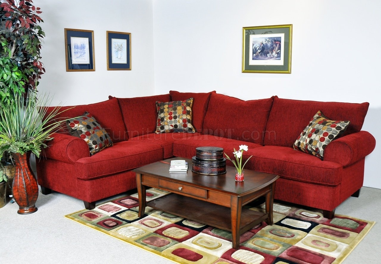 Red Sectional Sofa Be Equipped Sectional With Chaise Be Equipped regarding Red Sectional Sofas (Image 8 of 10)