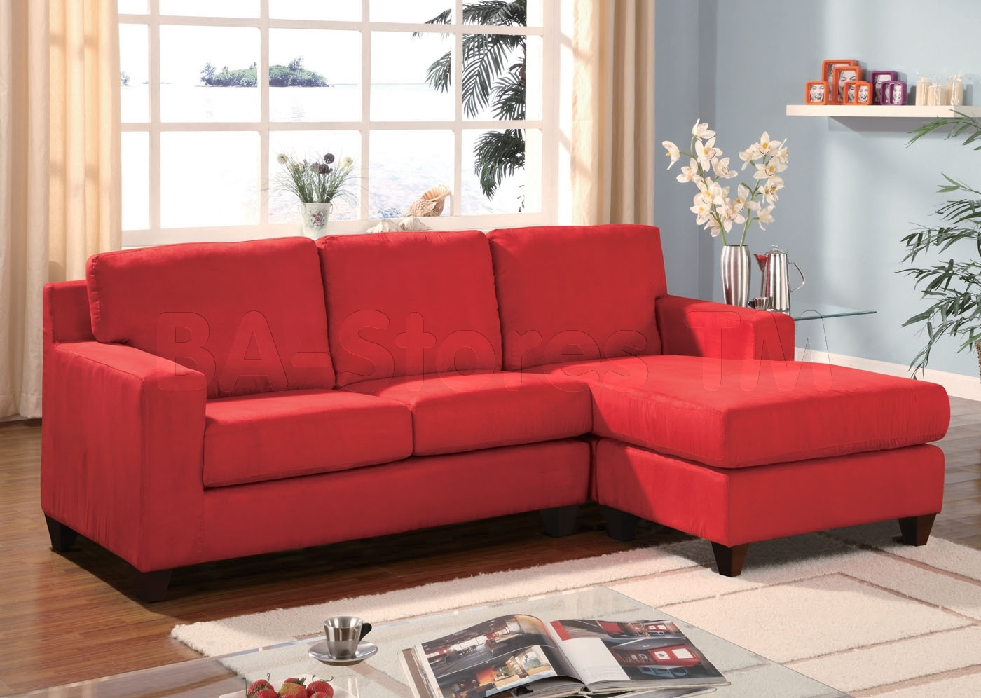 Red Sectional Sofa For Newly Wed Couples Home - Furnitureanddecors pertaining to Red Sectional Sofas (Image 9 of 10)