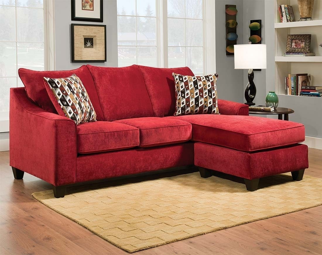 Red Sectional Sofa With Ottoman | Catosfera Pertaining To Red Sectional Sofas With Ottoman (View 3 of 15)