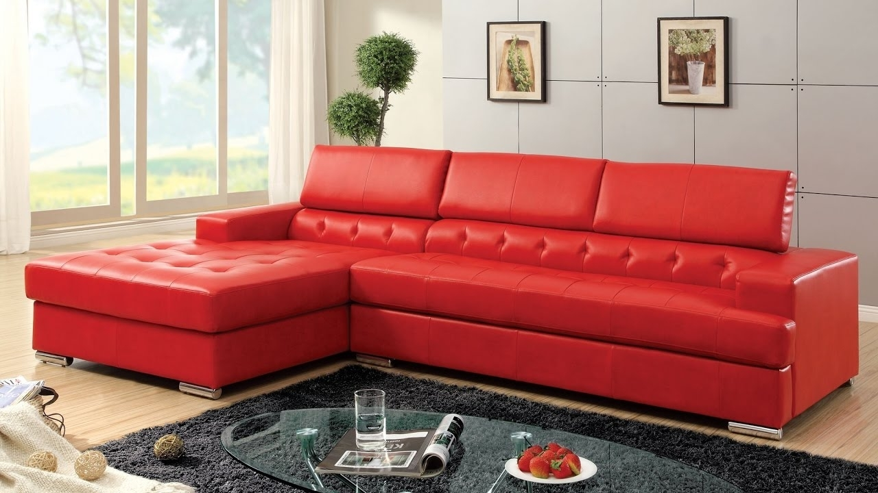 Red Sectional Sofas Design Ideas - Youtube with Red Sectional Sofas (Image 10 of 10)