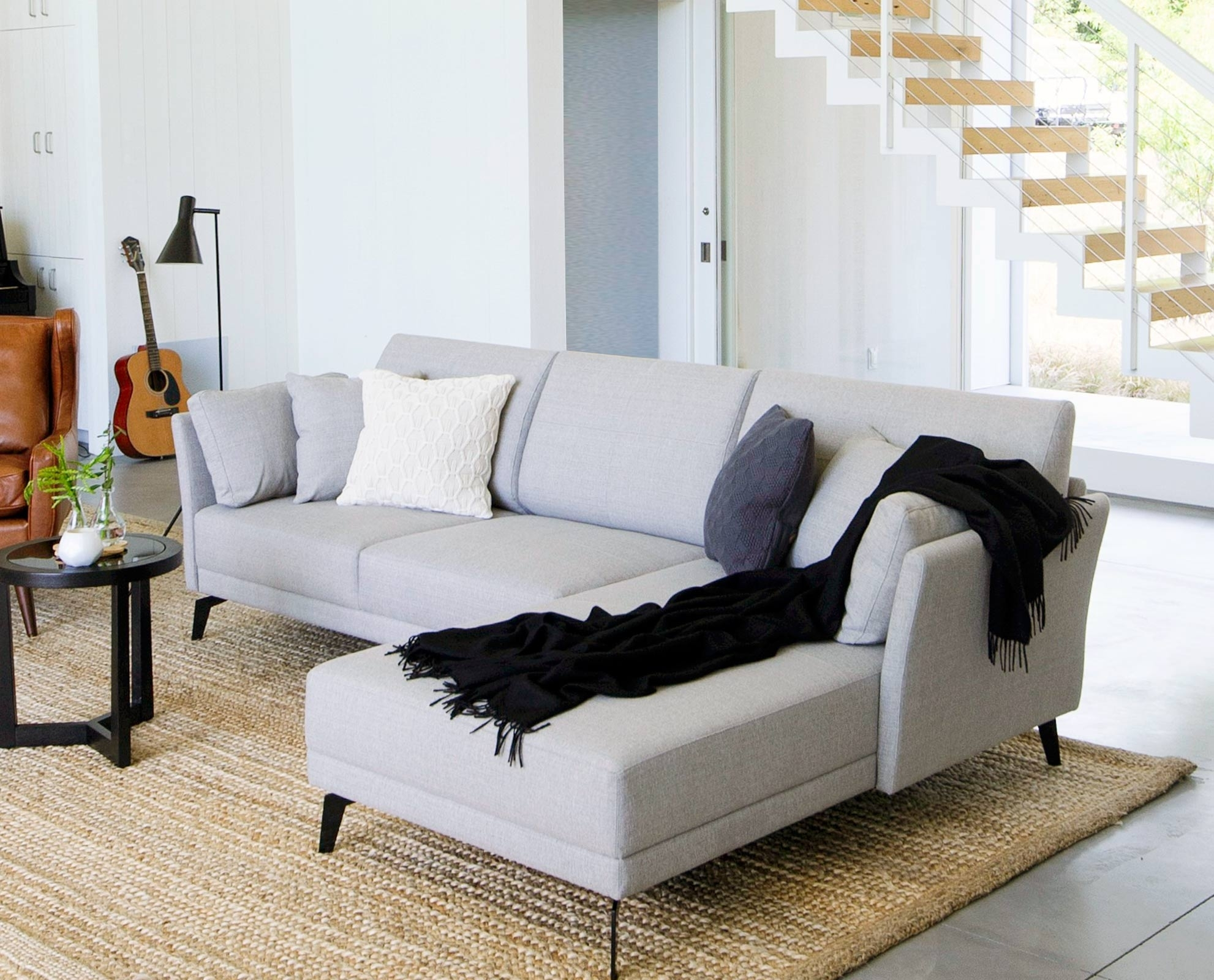 Renata Chaise Sectional // Scandinavian Designs | Casa Youngblade with regard to Dania Sectional Sofas (Image 5 of 10)