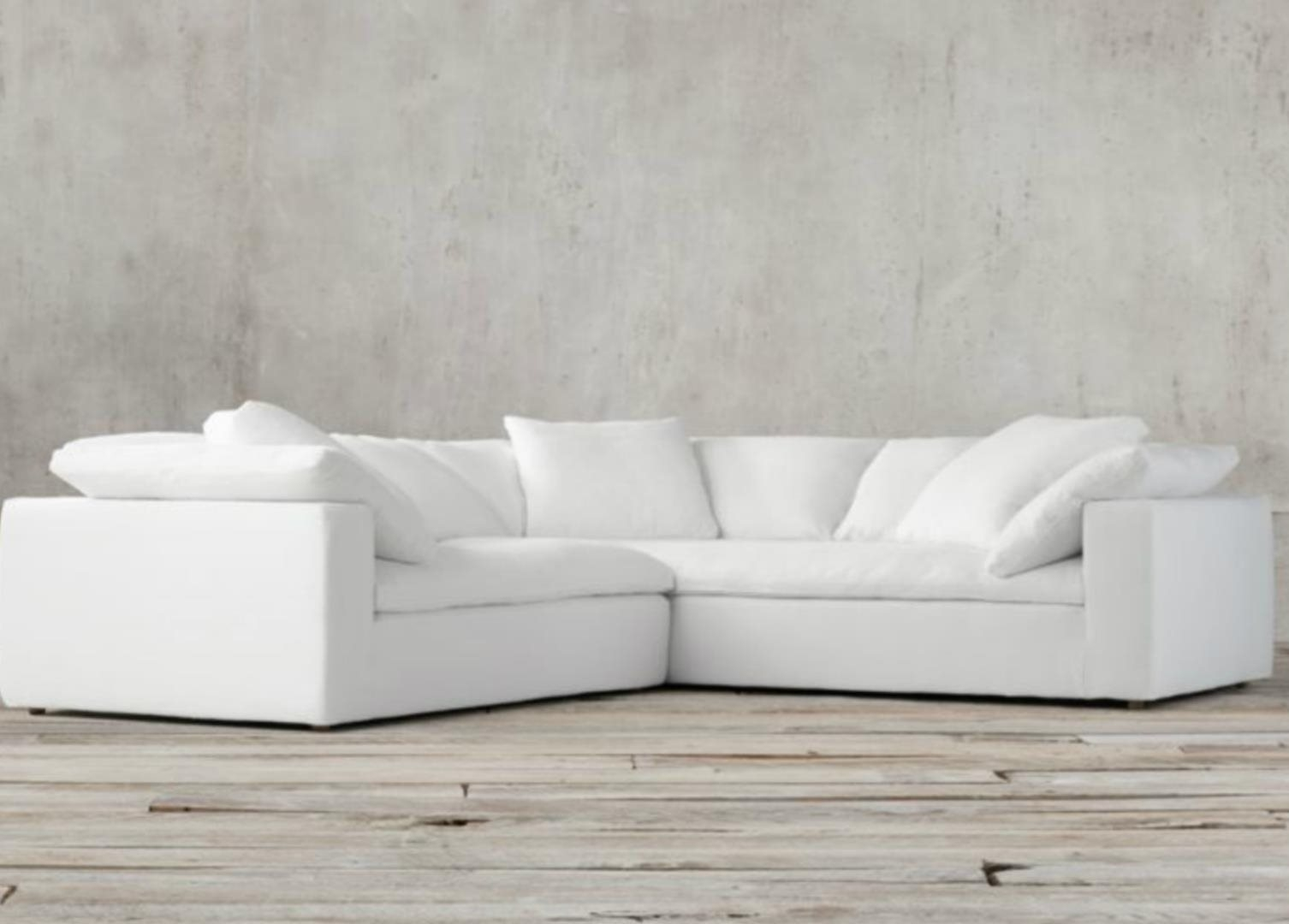 Restoration Hardware Cloud Modular Slipcovered Sofa: For Sale In San for Joining Hardware Sectional Sofas (Image 9 of 10)