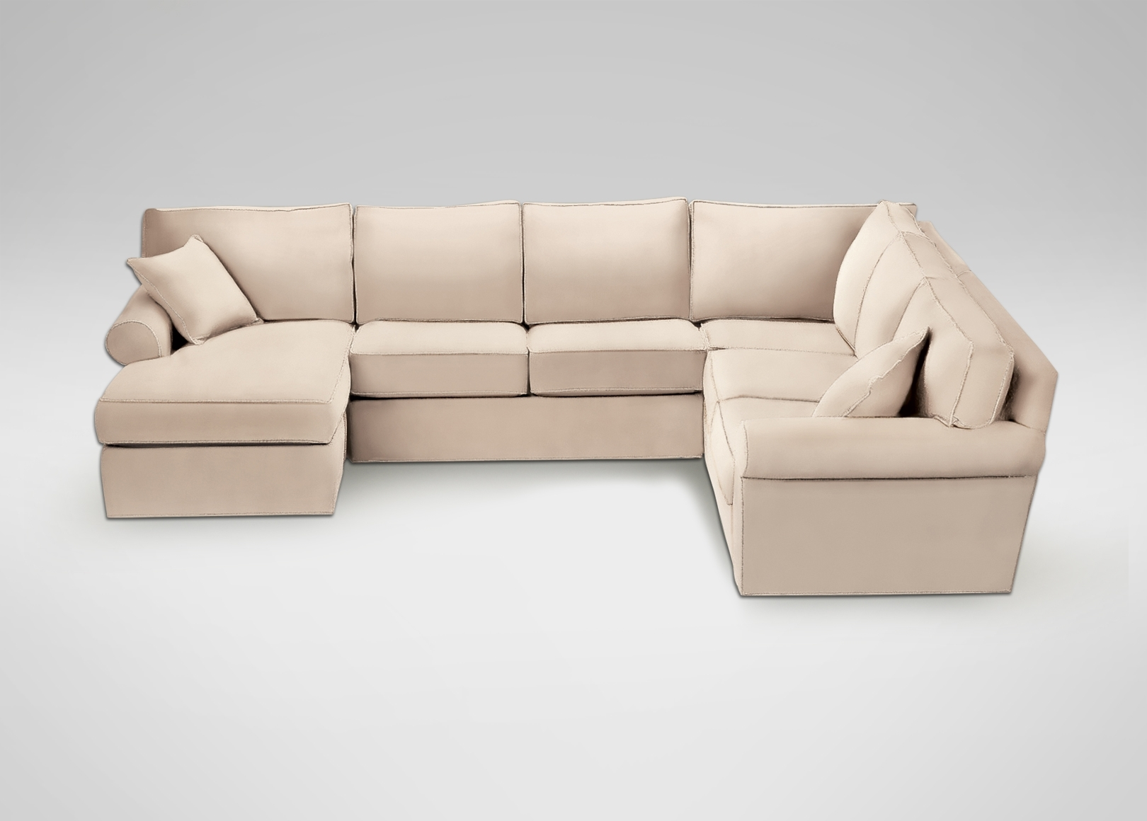 Retreat Roll-Arm Sectional With Chaise | Sectionals for Sectional Sofas at Ethan Allen (Image 8 of 10)