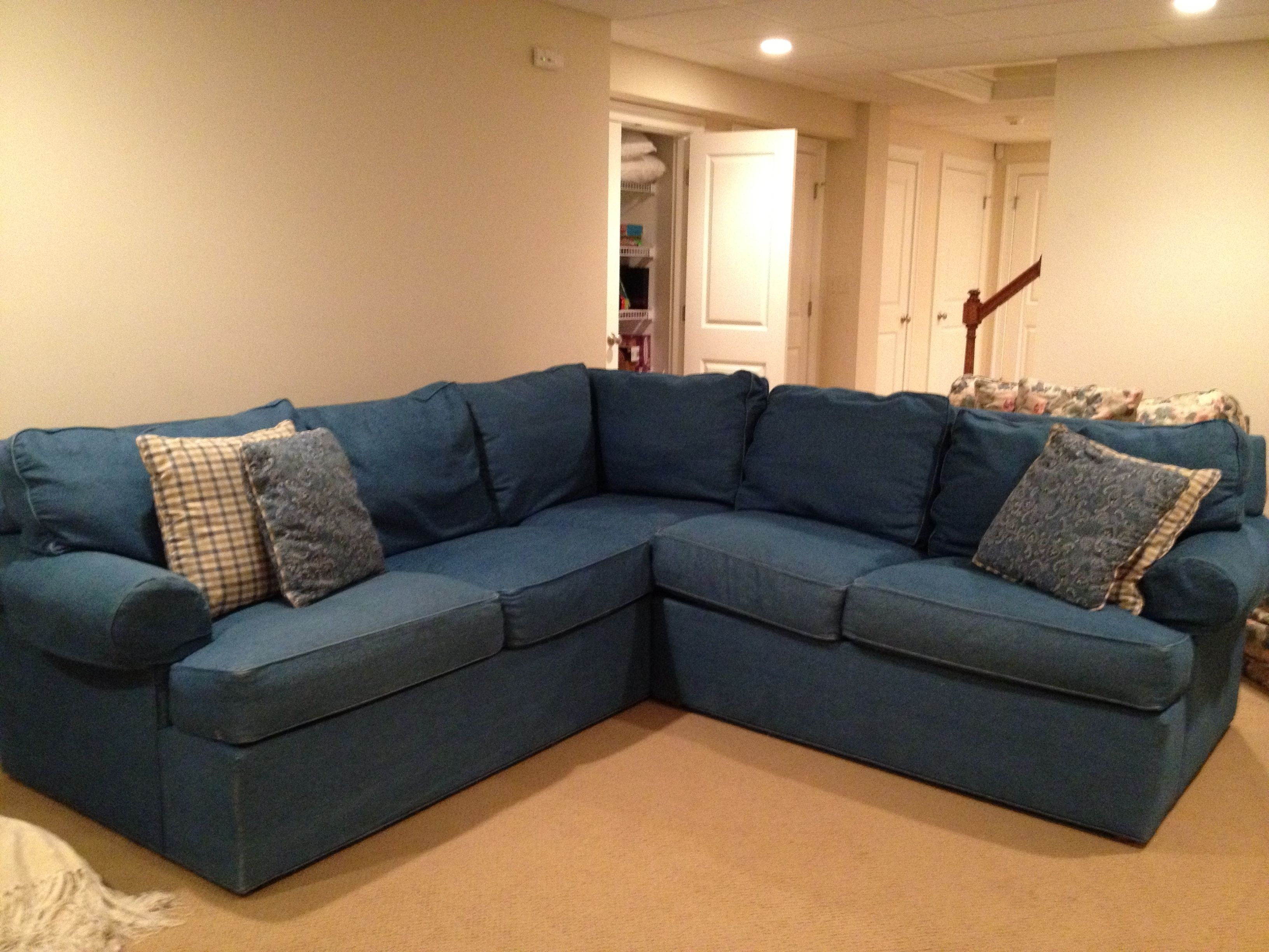 Right Sectional Sofa Denim Sofas Left Arm Ivy Polyester Facing With for Regina Sectional Sofas (Image 5 of 10)
