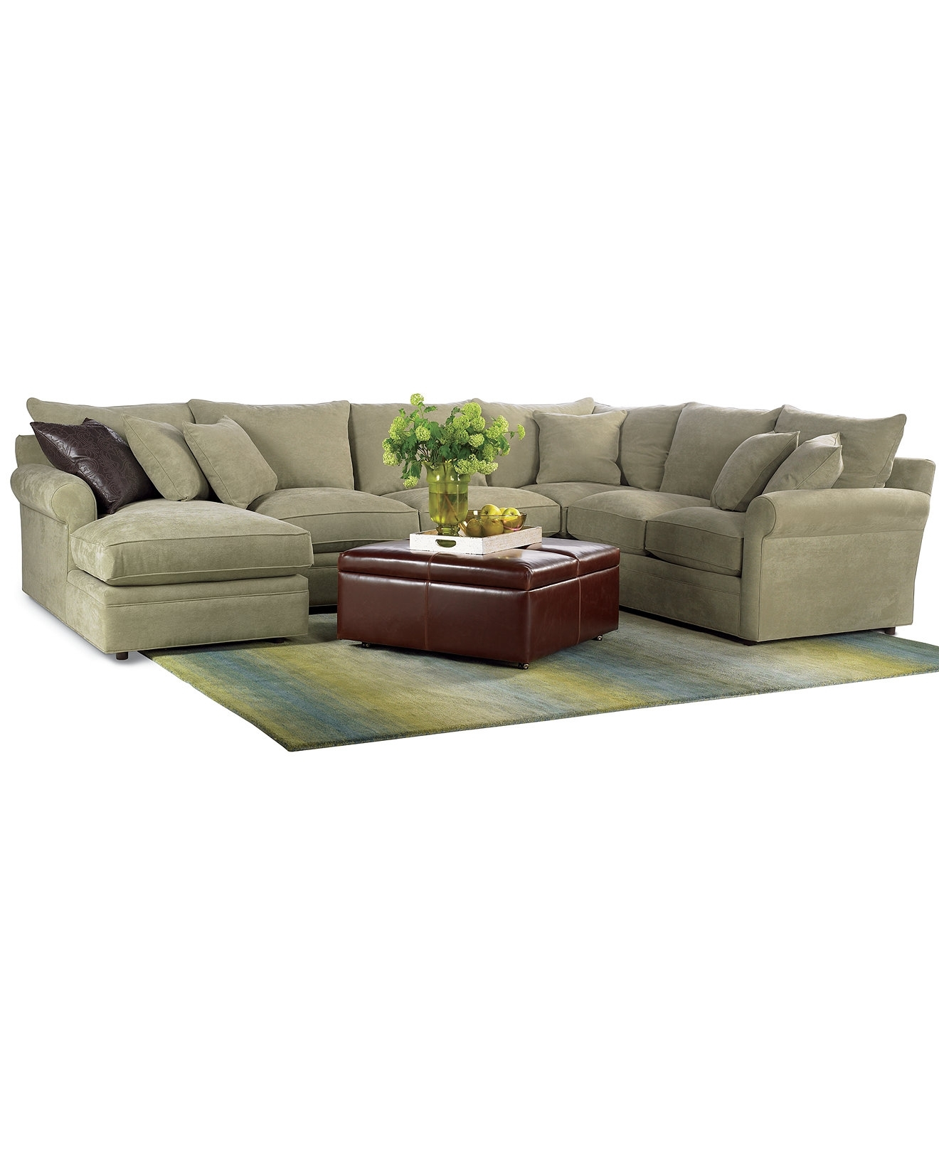Right Sectional Sofa Ivy Polyester Right-Facing With Bed – Grey Hand within Regina Sectional Sofas (Image 7 of 10)