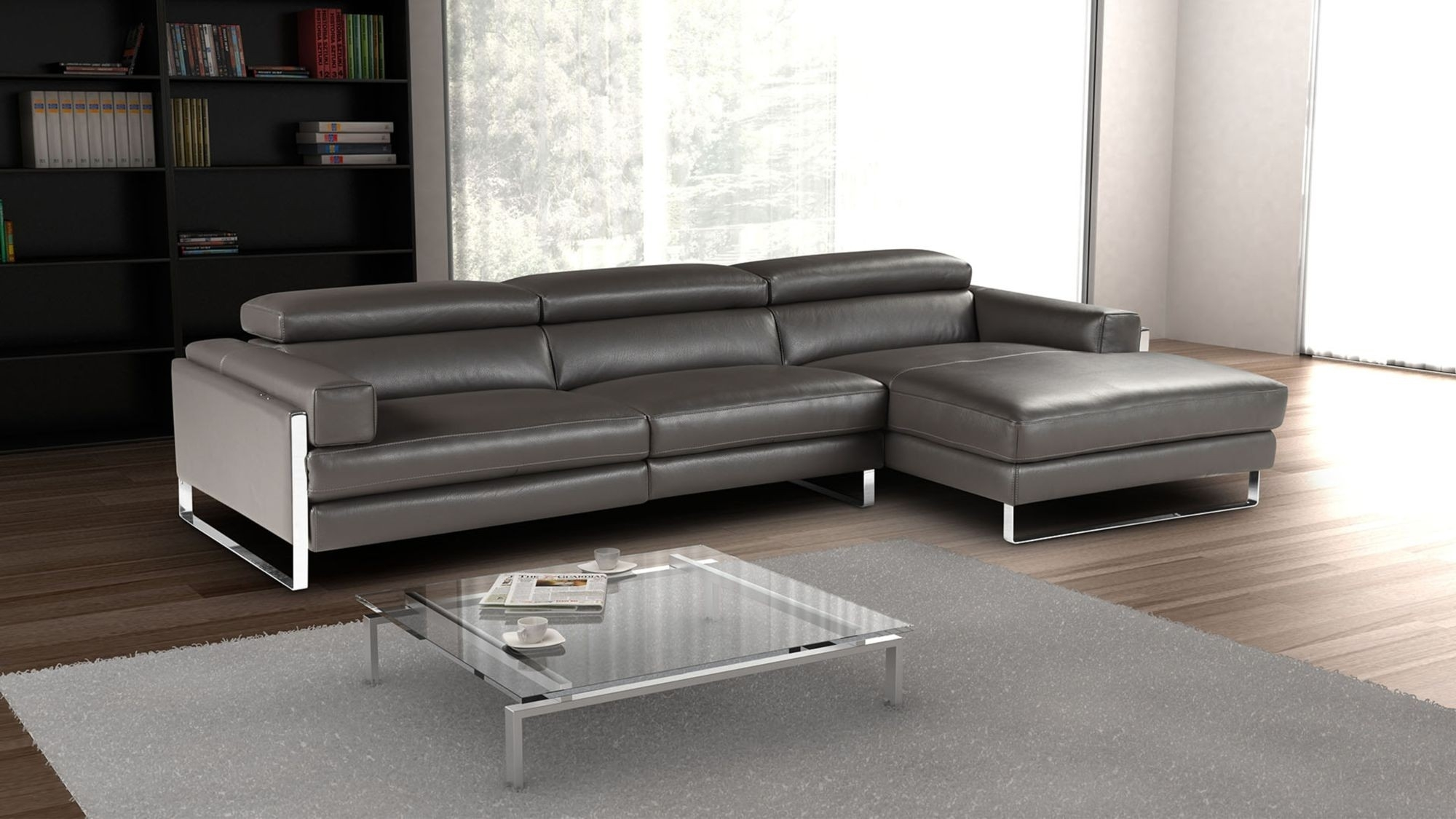 Right Sectional Sofa Romeo Modern Facing Chaise Giuseppegiuseppe for Regina Sectional Sofas (Image 8 of 10)