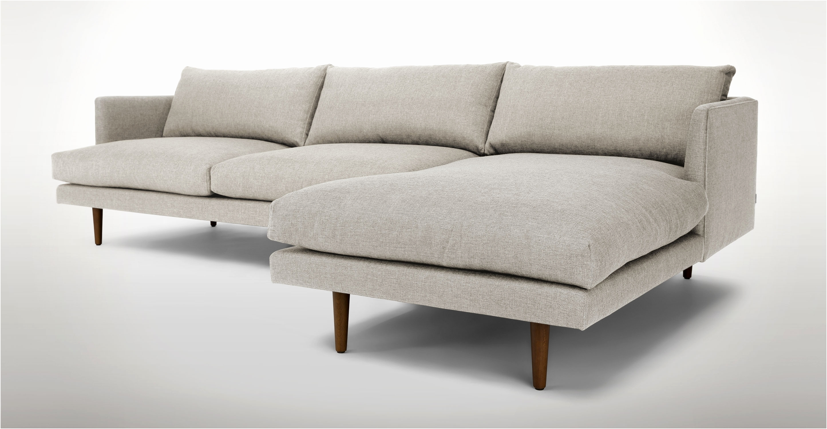 Right Sectional Sofa Sven Intuition Gray Scandinavian Furniture Hand in Regina Sectional Sofas (Image 9 of 10)
