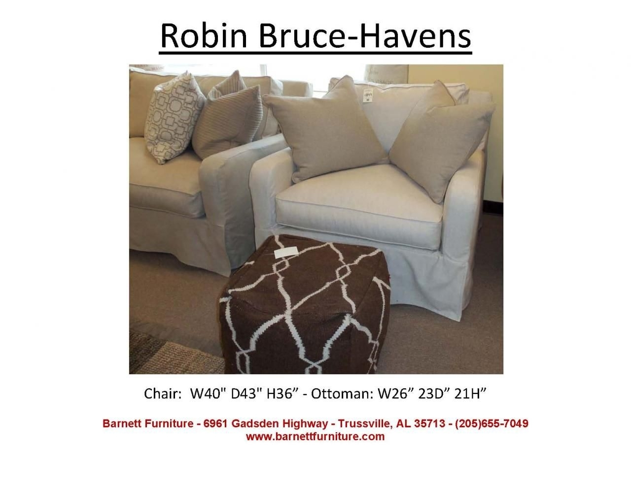 Robin Bruce Havens Slipcover Chair At Barnett Furniture In Within Sectional Sofas At Birmingham Al (View 10 of 15)