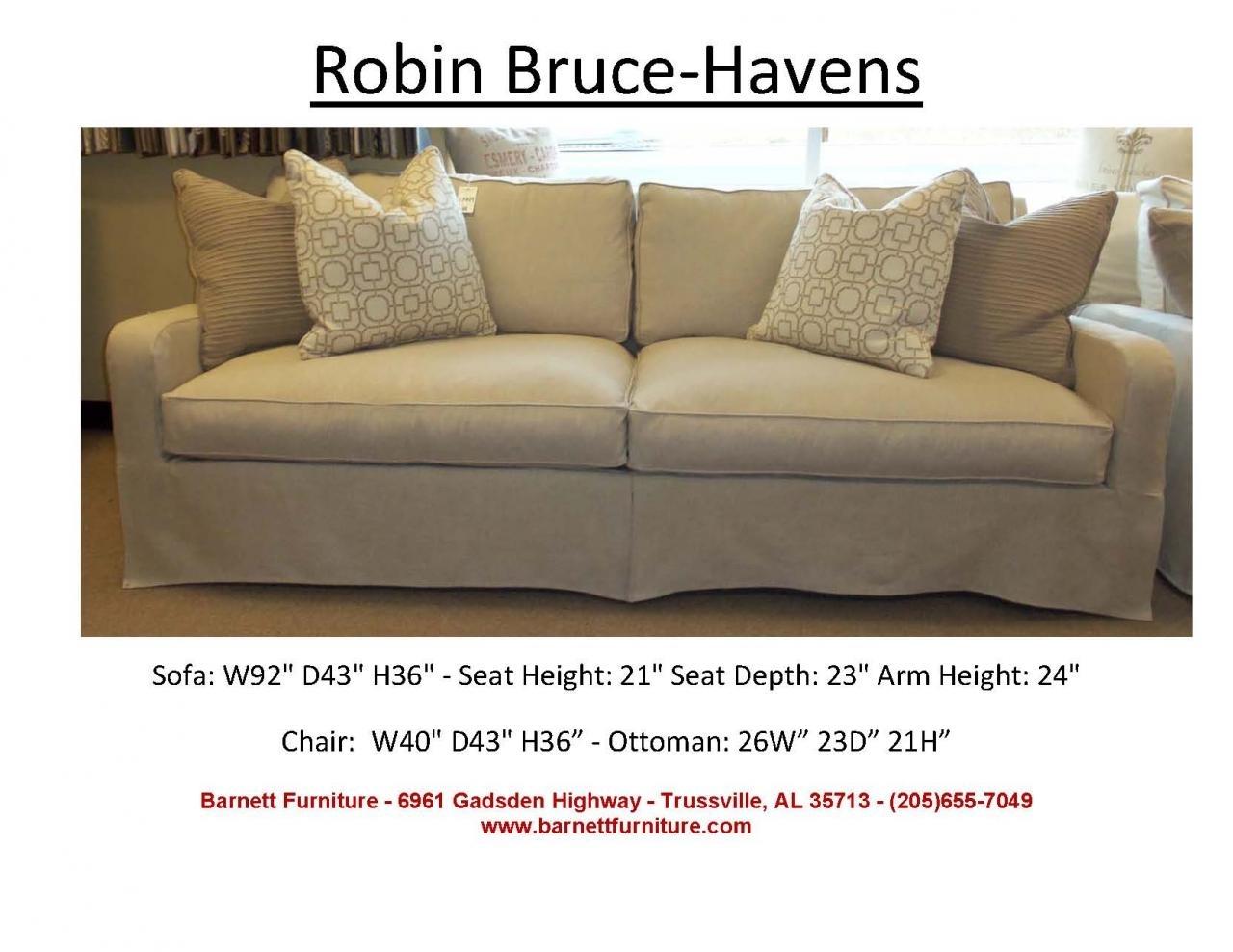Robin Bruce Havens Slipcover Sofa At Barnett Furniture In Trussville in Sectional Sofas At Birmingham Al (Image 12 of 15)