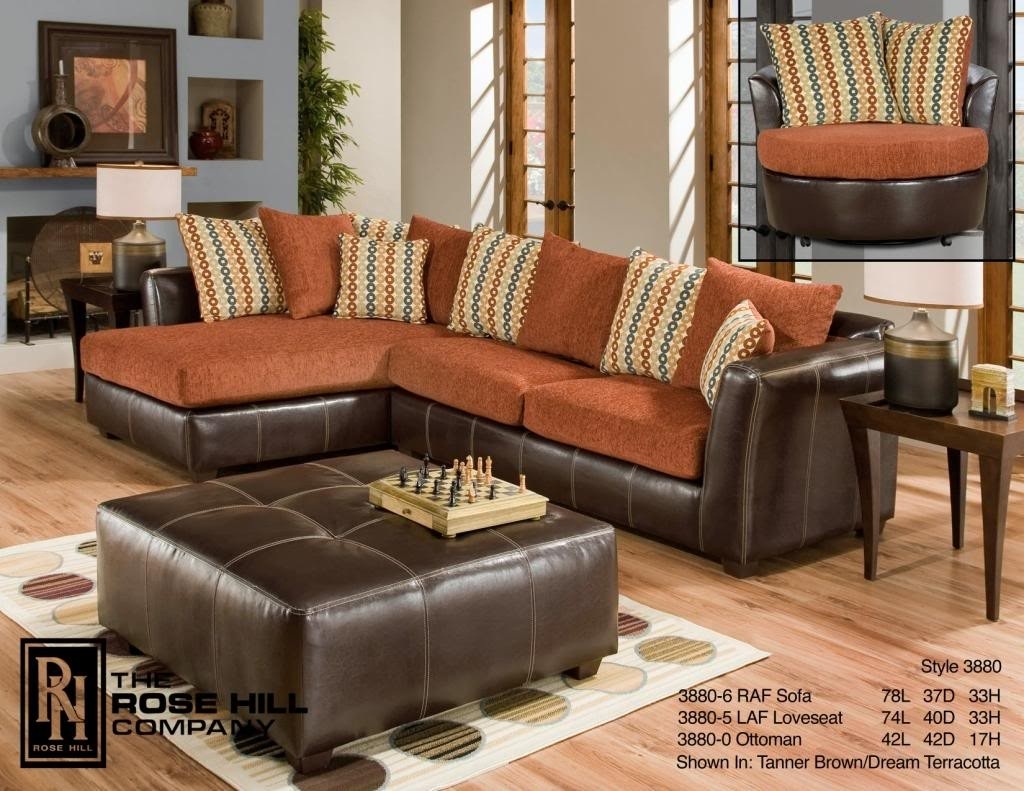 Rose Hill Furniture Trapper Brown / Dream Terracotta Complete Living inside Memphis Tn Sectional Sofas (Image 8 of 10)