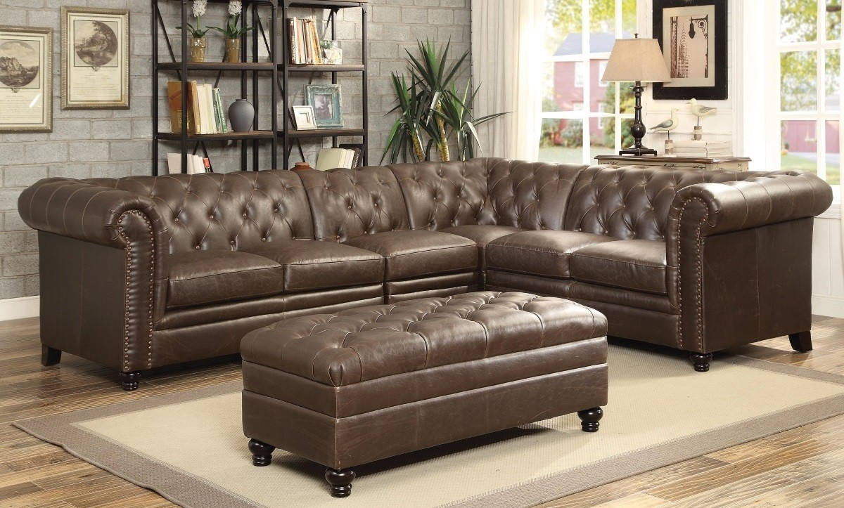 Roy Button-Tufted Sectional Sofa With Armless Chair Lowest Price within Tufted Sectional Sofas (Image 6 of 10)
