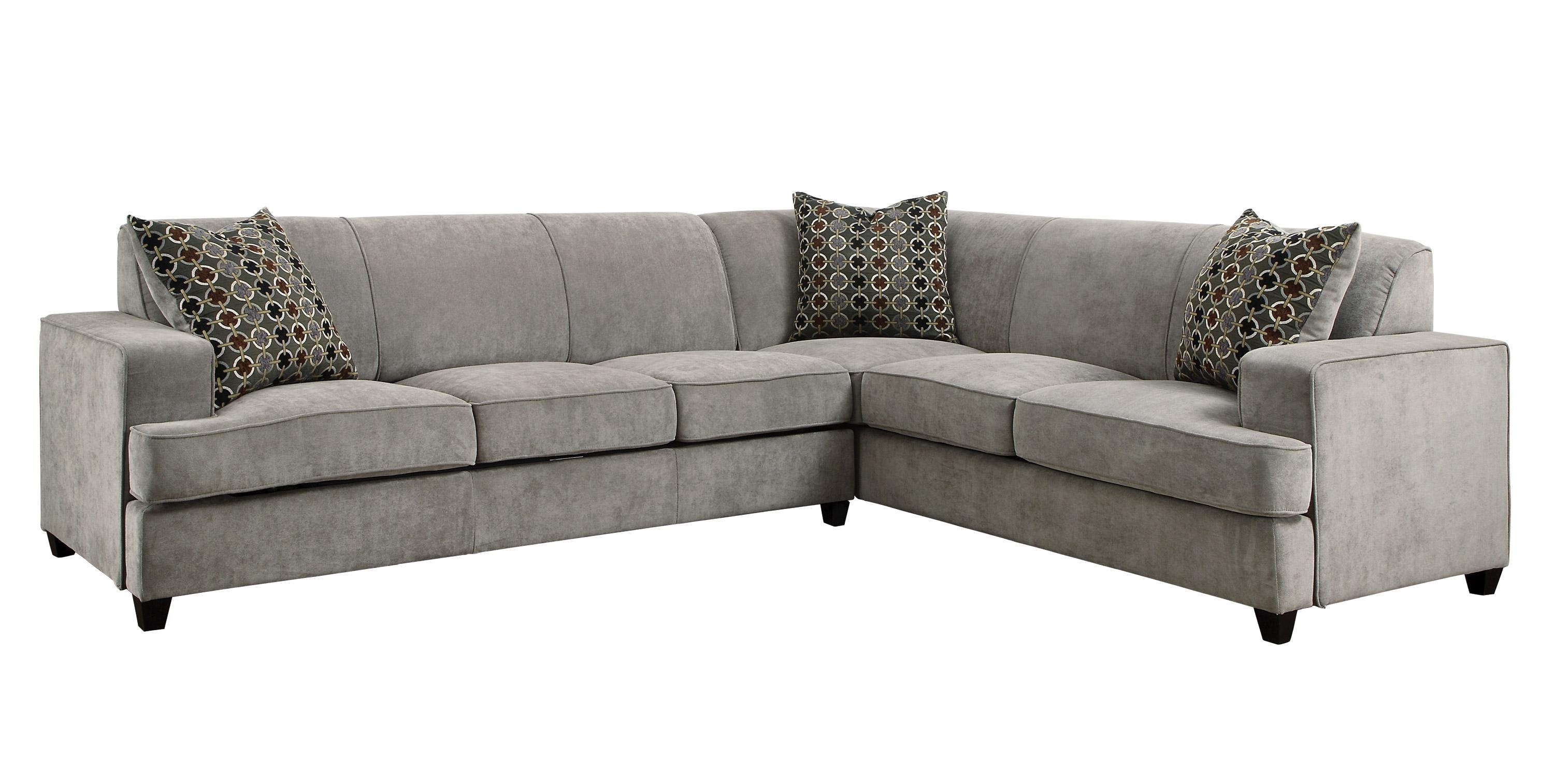 Sale: $1458.00 Tess Modern Grey Sectional Sofa With Sleeper throughout Contemporary Sectional Sofas (Image 12 of 15)