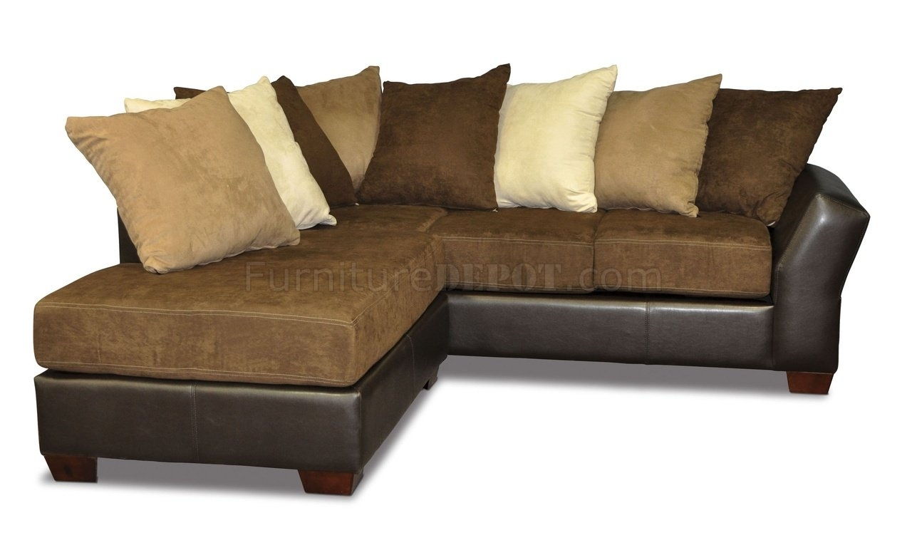 Scatter Back Modern Sectional Sofa Oversized Pillows - Homes in Sofas With Oversized Pillows (Image 8 of 10)